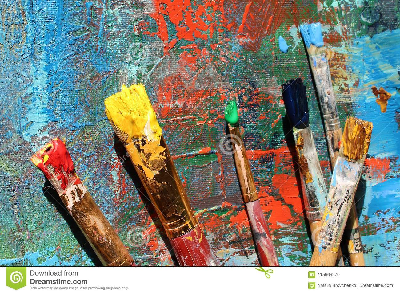 Abstract Art Background  Hand-painted Background Stock Photo