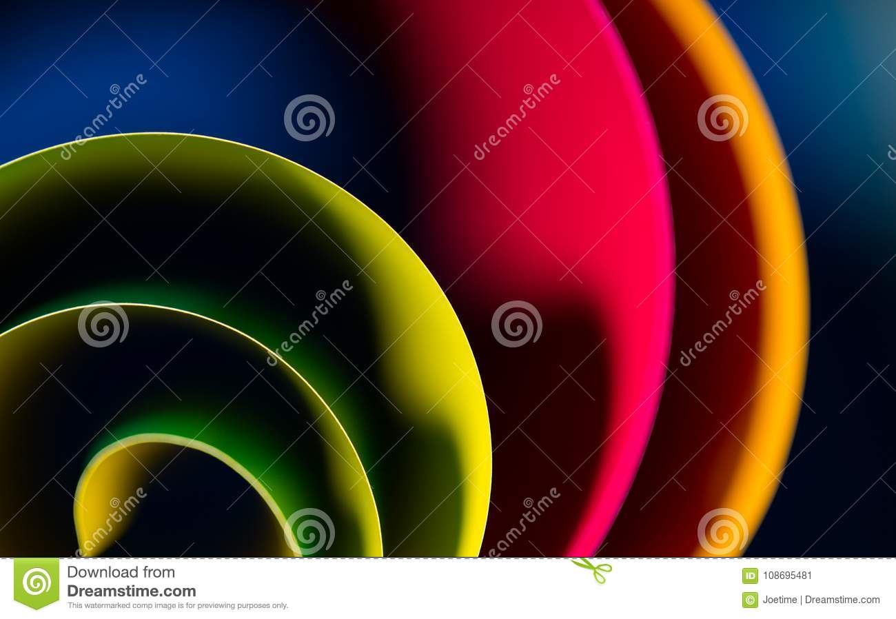 Abstract art of colorful, blur blue background and highlight to line. Gradient color is curve low key lighting abstract wallpaper.