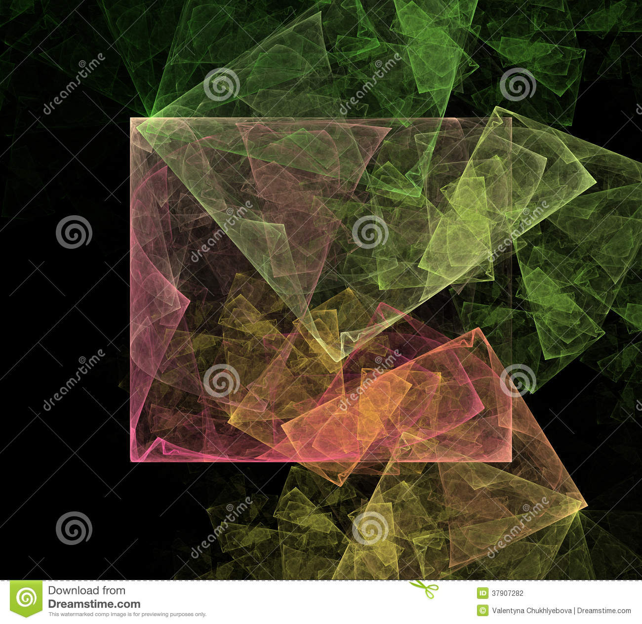 Abstract art cubic space stock photo image of cube for Space art design