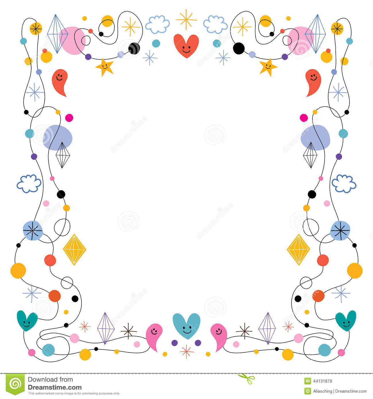 Abstract art cute frame stock vector illustration of card for Cute abstract art