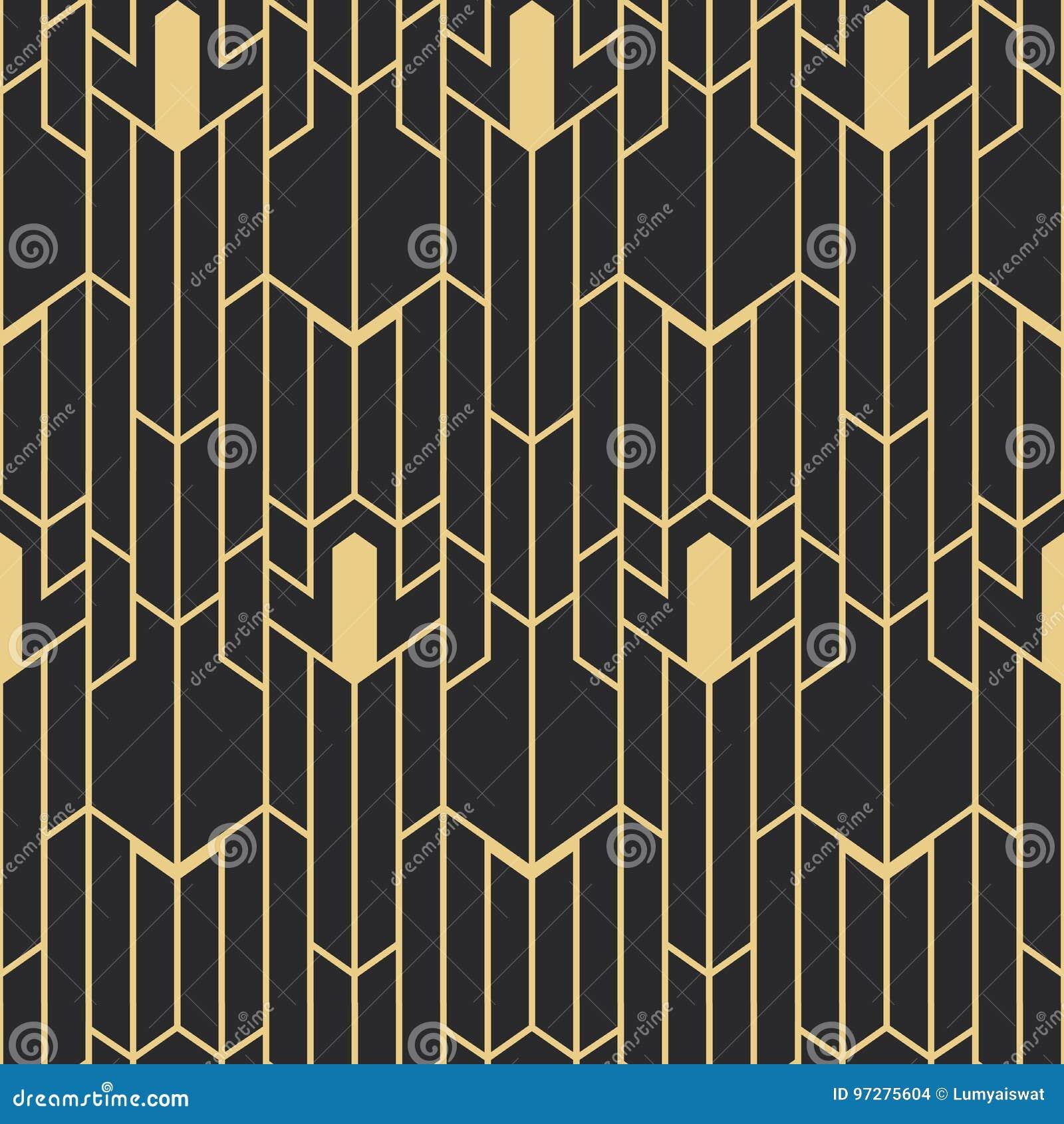 Art Deco Meubelstof.Abstract Art Deco Seamless Pattern Stock Vector Illustration Of