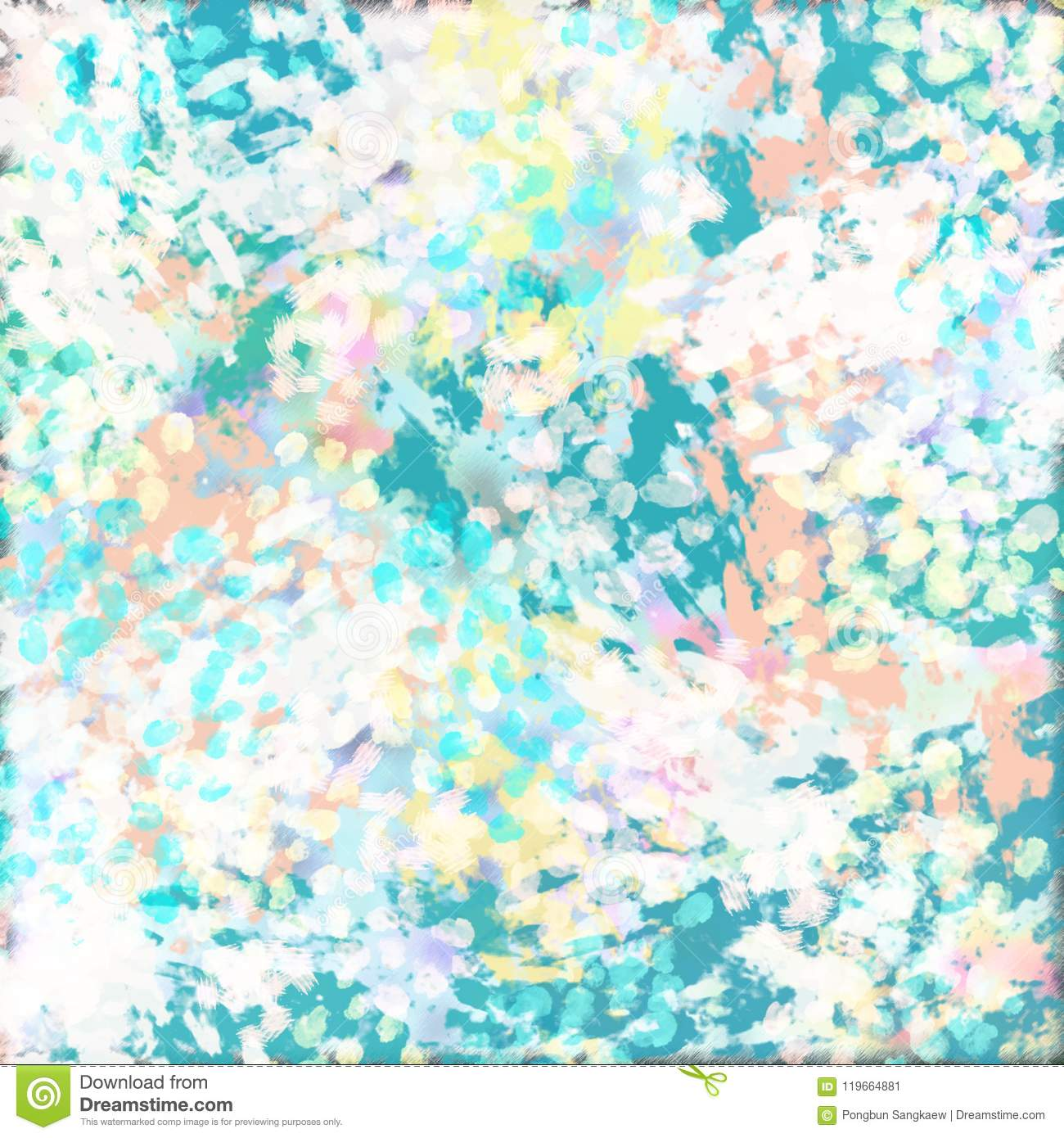 Abstract Art Digital Oil Paint Pastel Color Banner Display