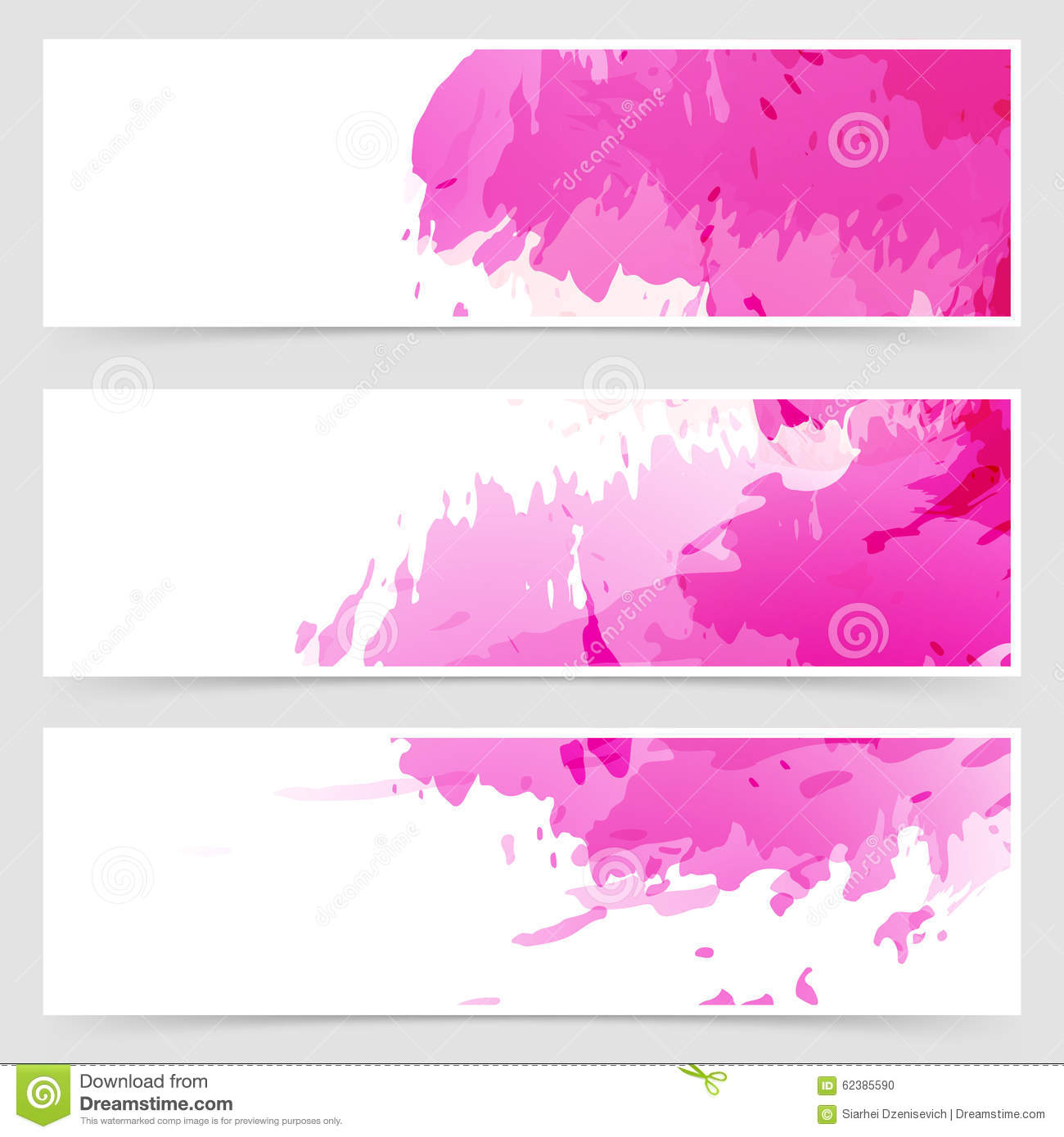 Abstract art header set collection