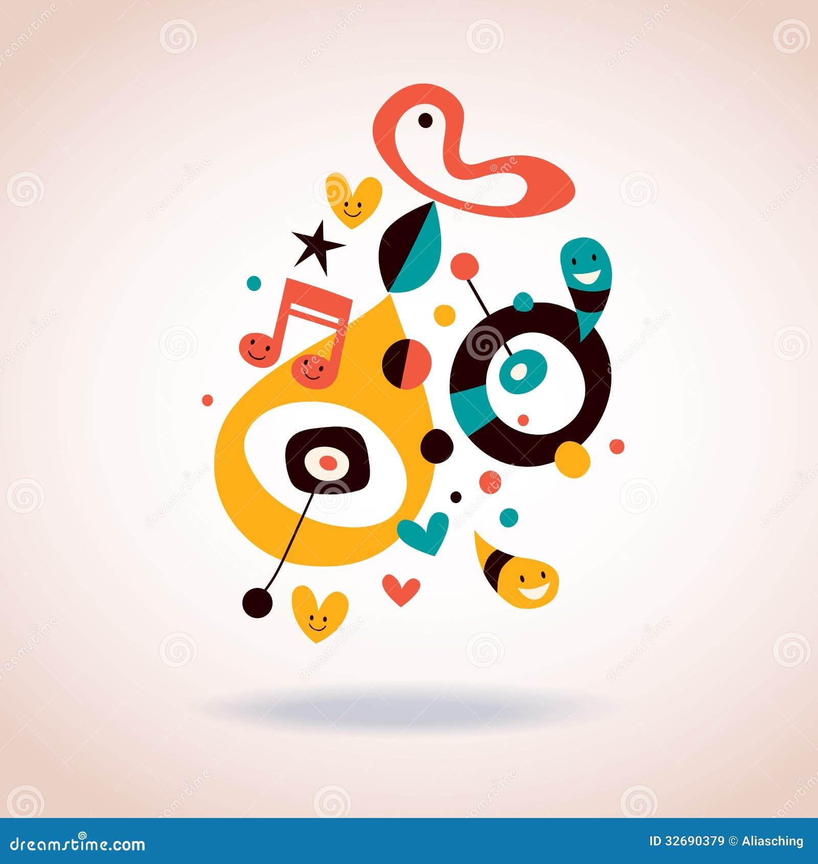 Art Illustration: Abstract Art Illustration Stock Vector. Image Of Joyful