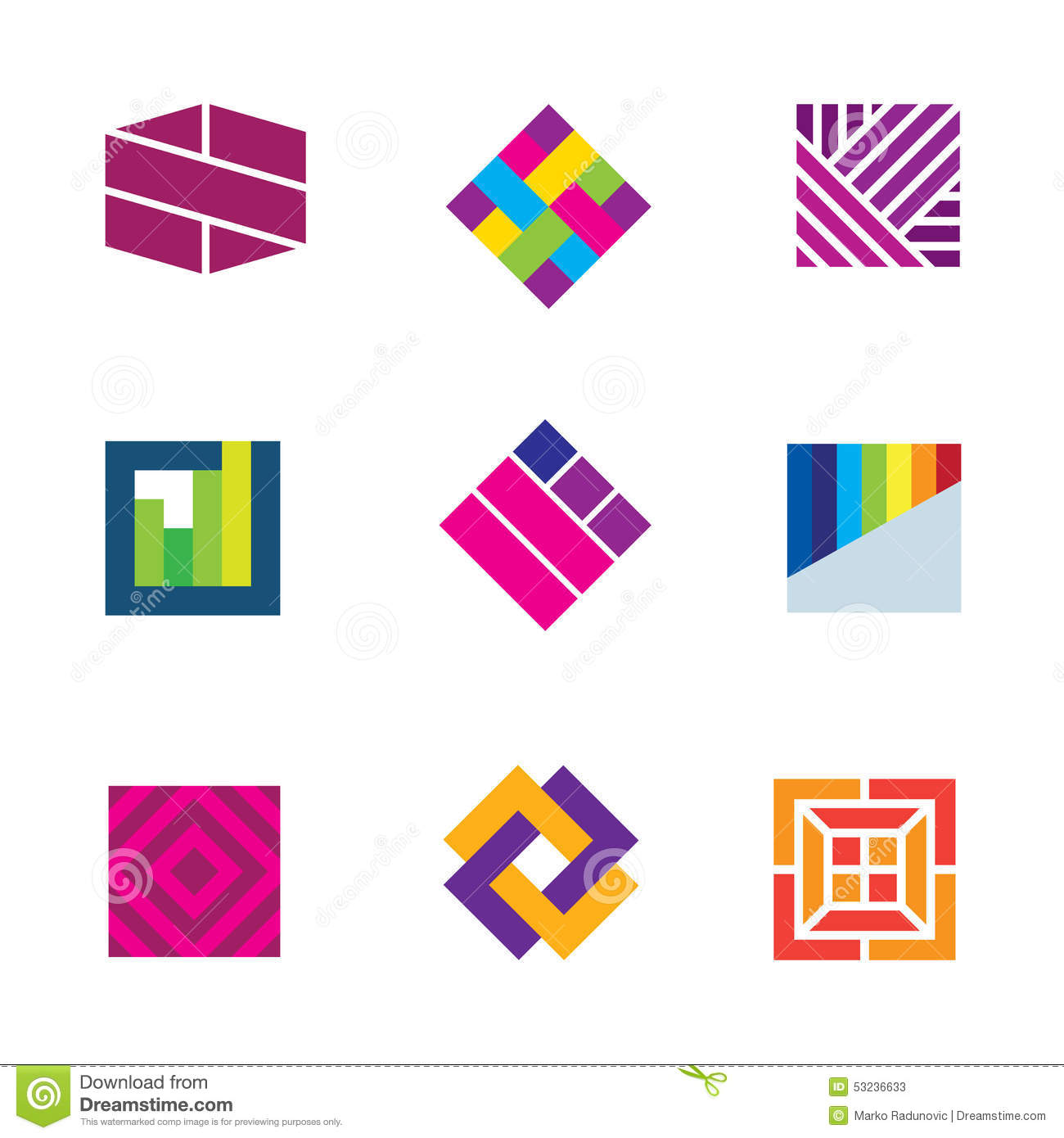 Abstract art logo template symbol be different decoration for Decoration logo
