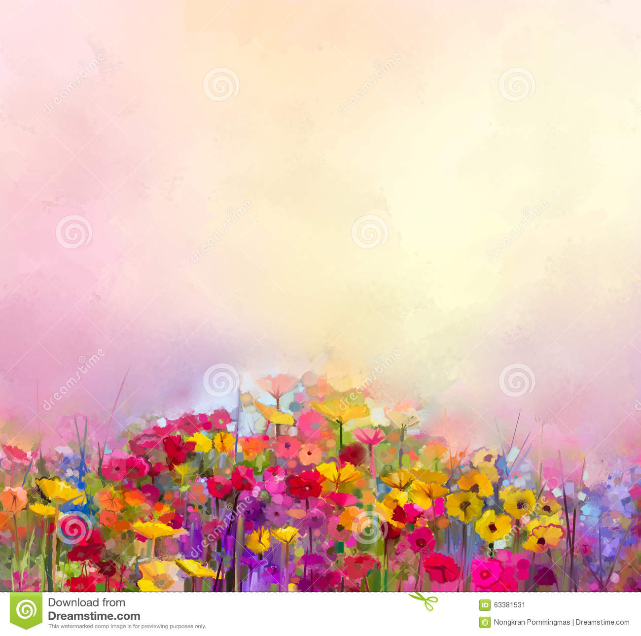 Abstract art oil painting of summer spring flower meadow landscape abstract art oil painting of summer spring flower meadow landscape with wildflower mightylinksfo