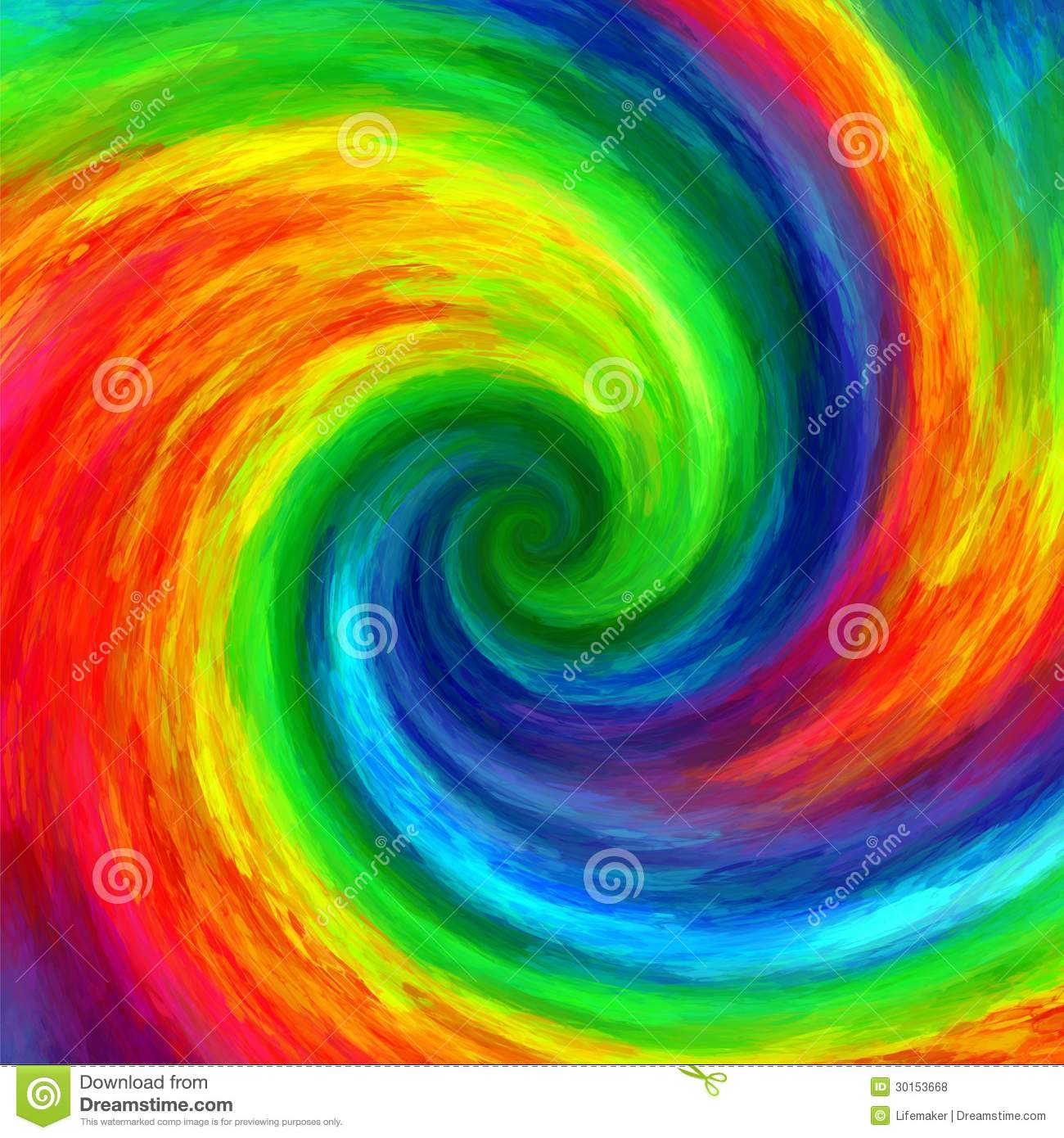 Abstract Art Swirl Rainbow Grunge Colorful Paint