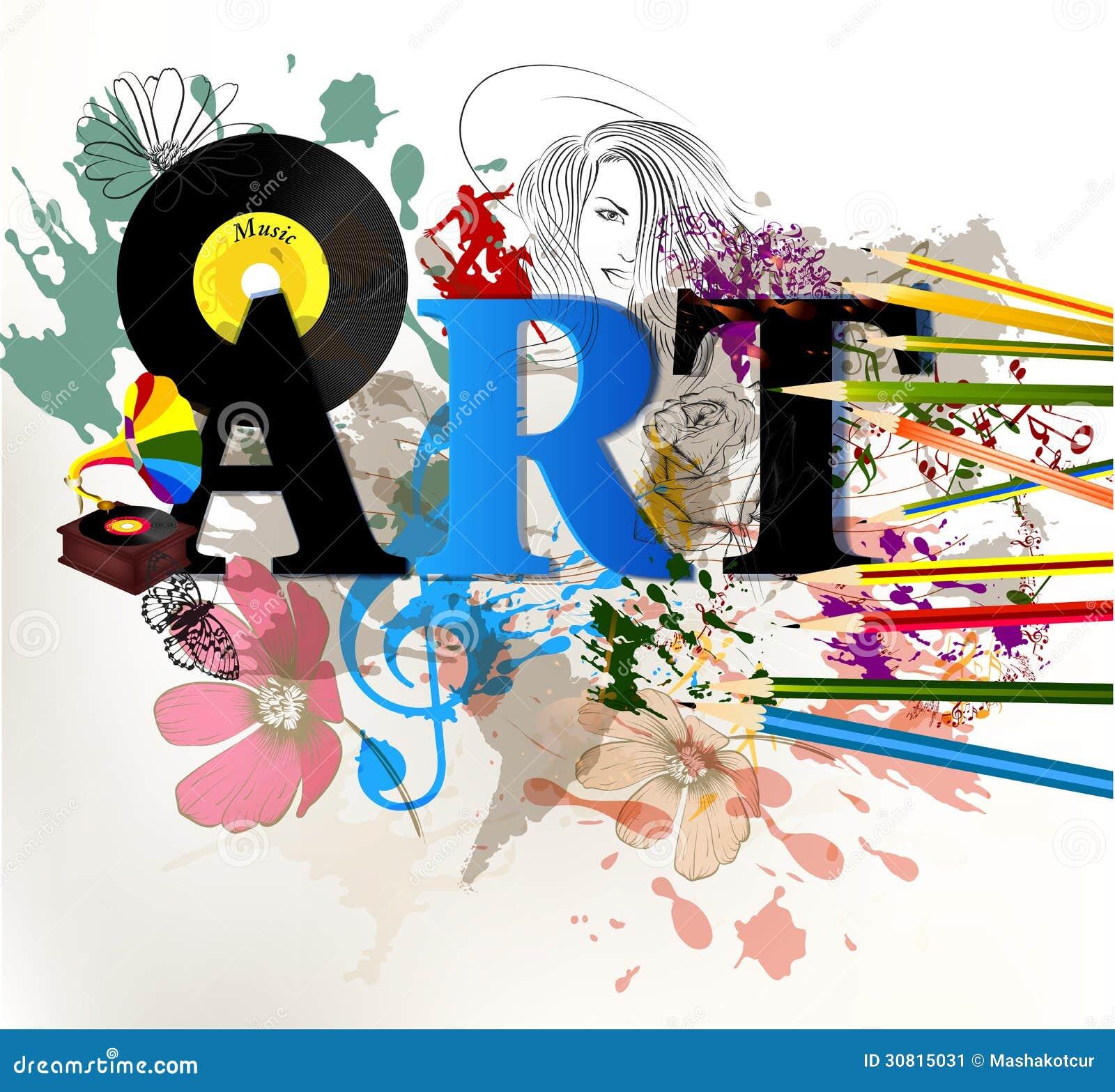 Abstract Art Vector Conceptual Background Stock Vector