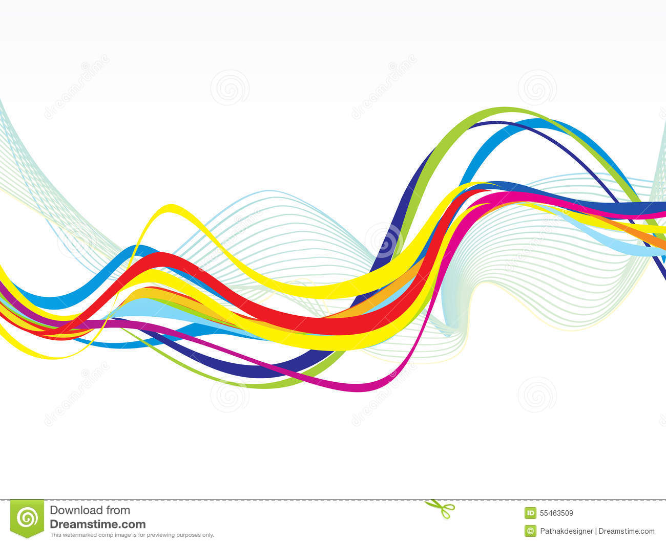 Abstract Volleyball On Colorful Wave Background: Abstract Artistic Colorful Line Wave Background Stock