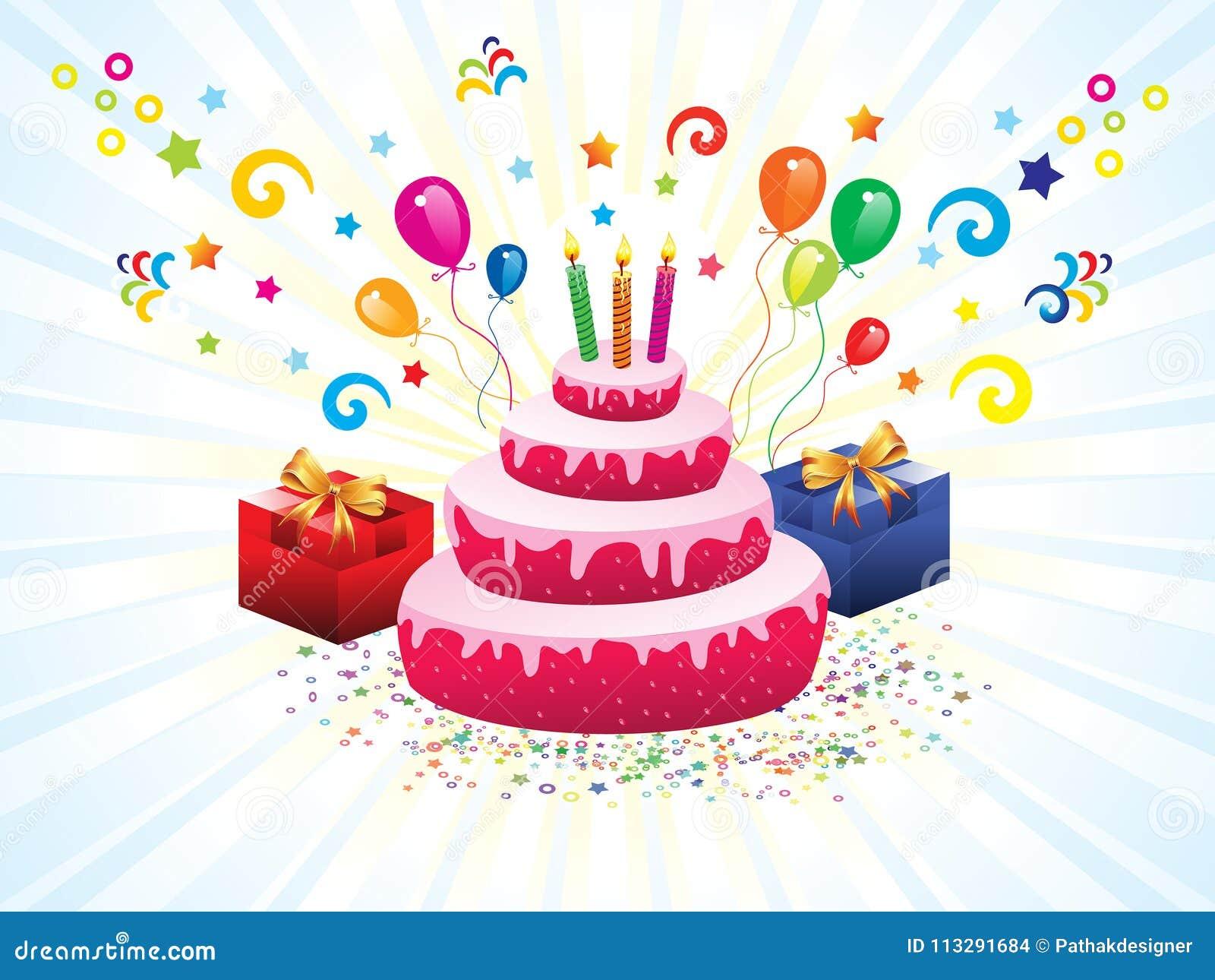 Amazing Abstract Artistic Creative Birthday Cake Stock Vector Funny Birthday Cards Online Hetedamsfinfo