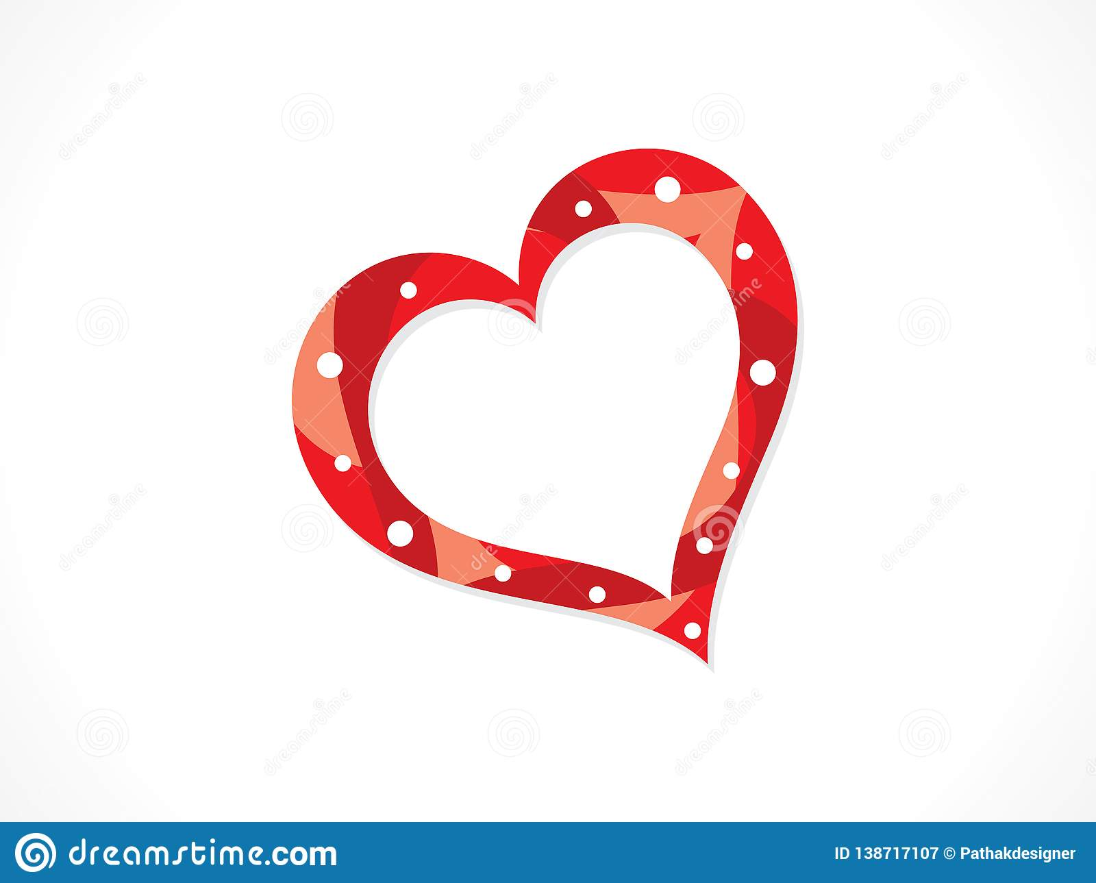 Abstract artistic creative love heart