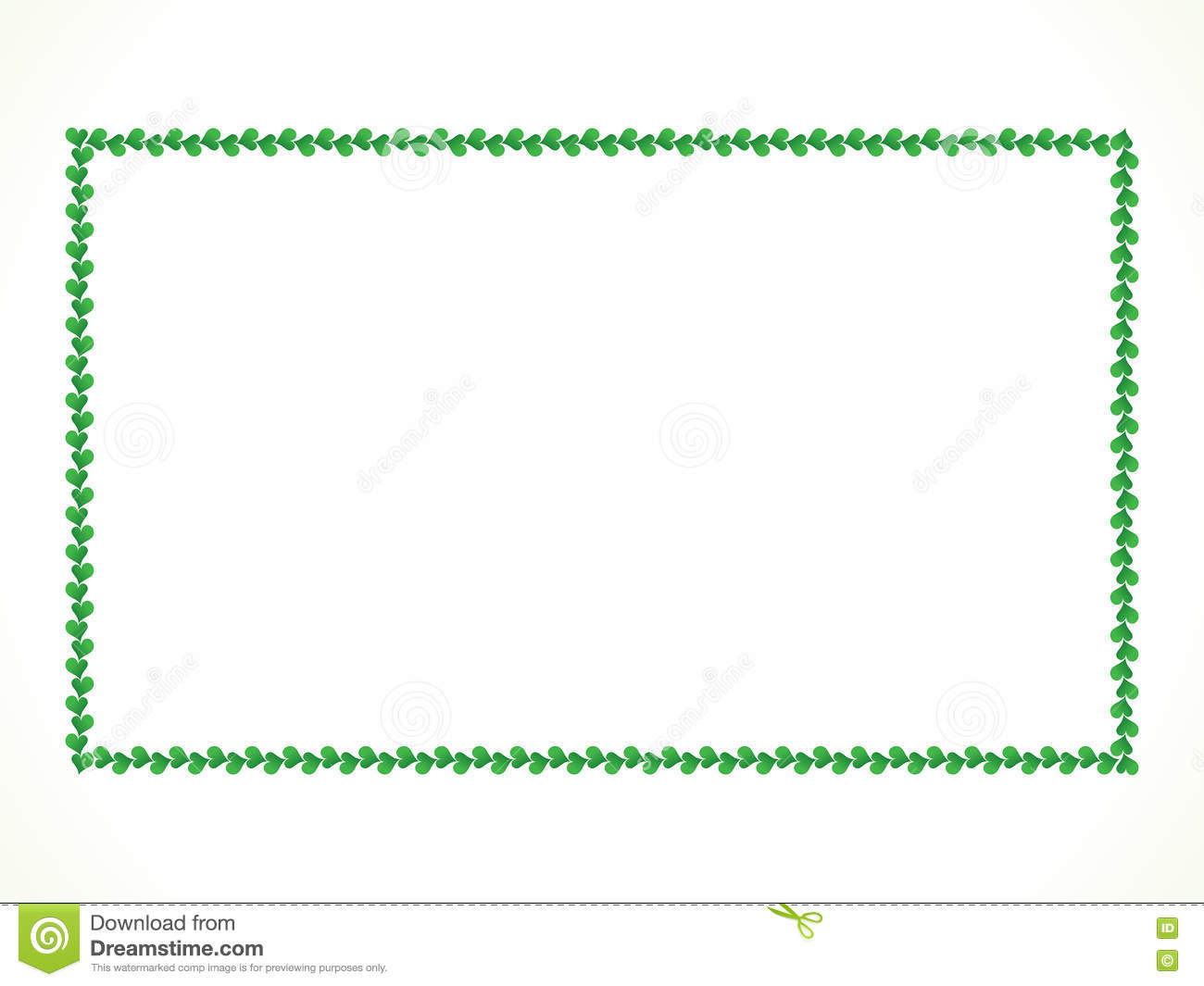 Abstract Artistic Green Heart Border Stock Vector - Image ...