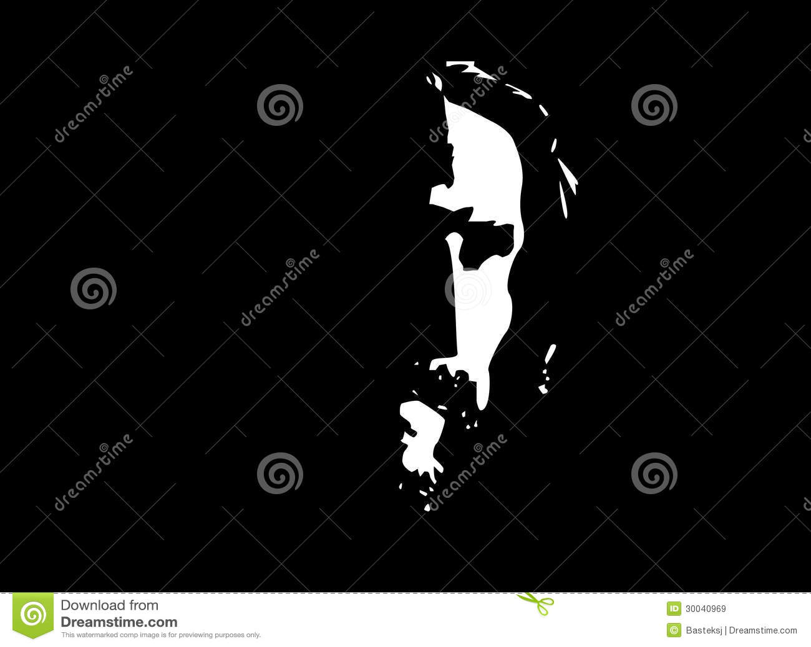 Jesus Profile Stock Illustration Illustration Of Messiah