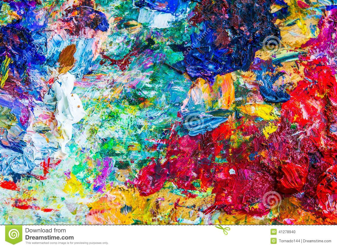 Abstract artistic palette
