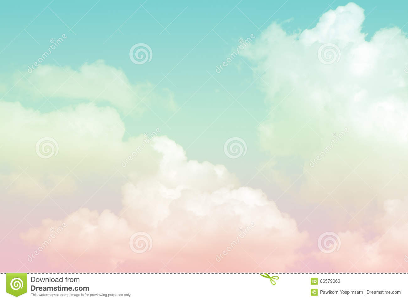 Abstract artistic soft pastel colorful cloud sky for background