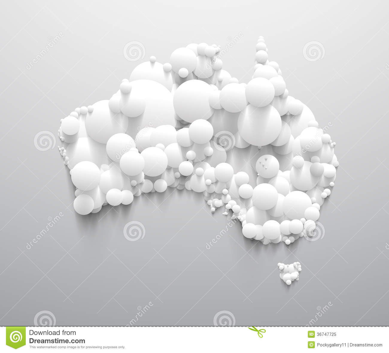 Abstract Australia Map With White Circle Royalty Free