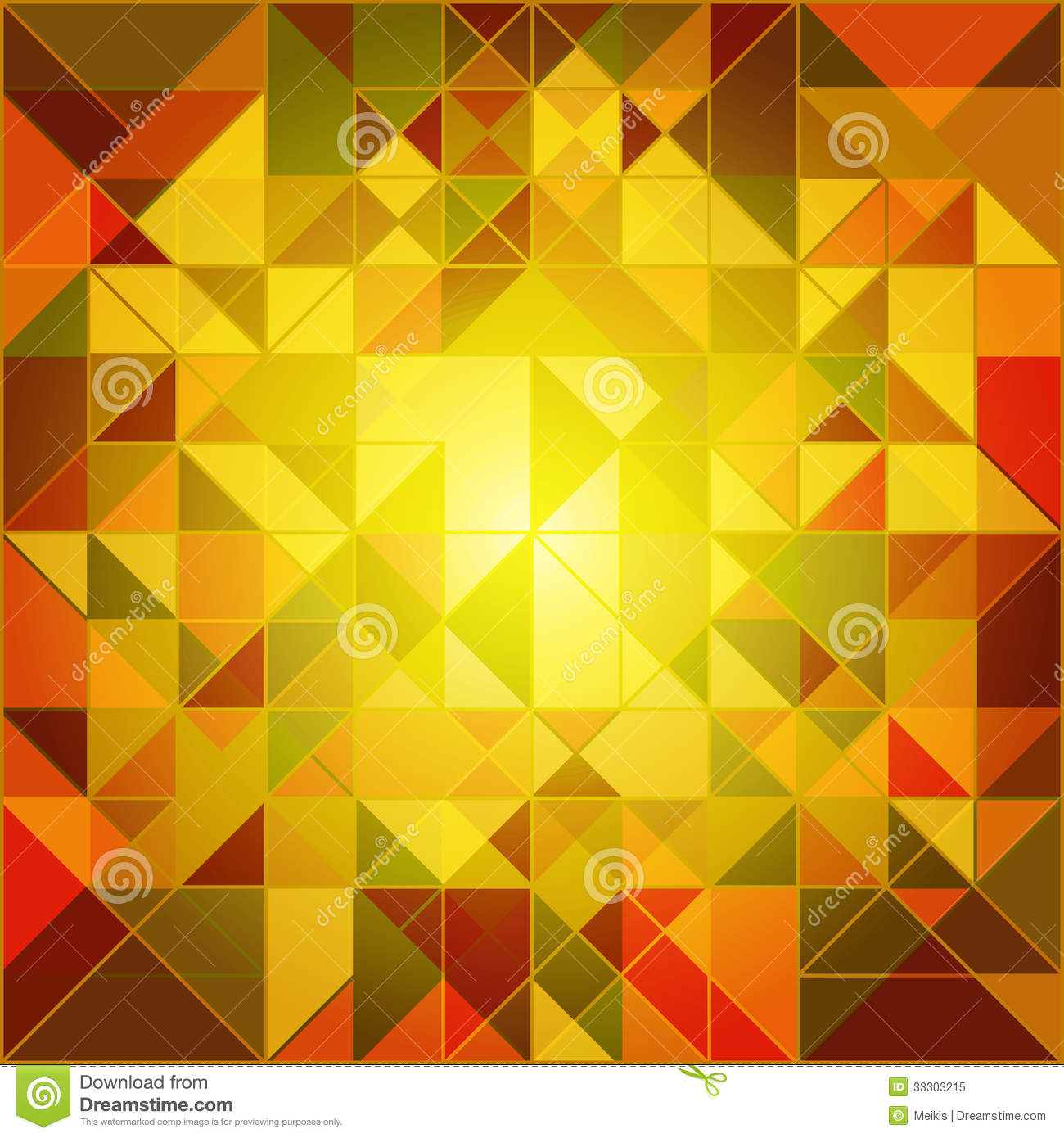 Abstract Autumn Colors Geometric Background Stock Vector