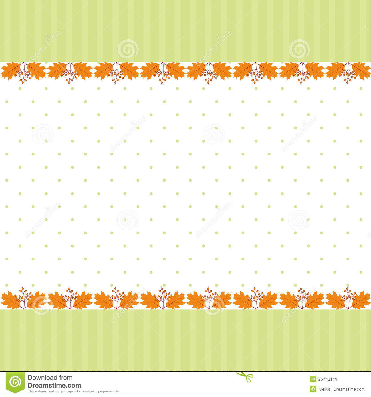 Abstract autumn leaf greeting card