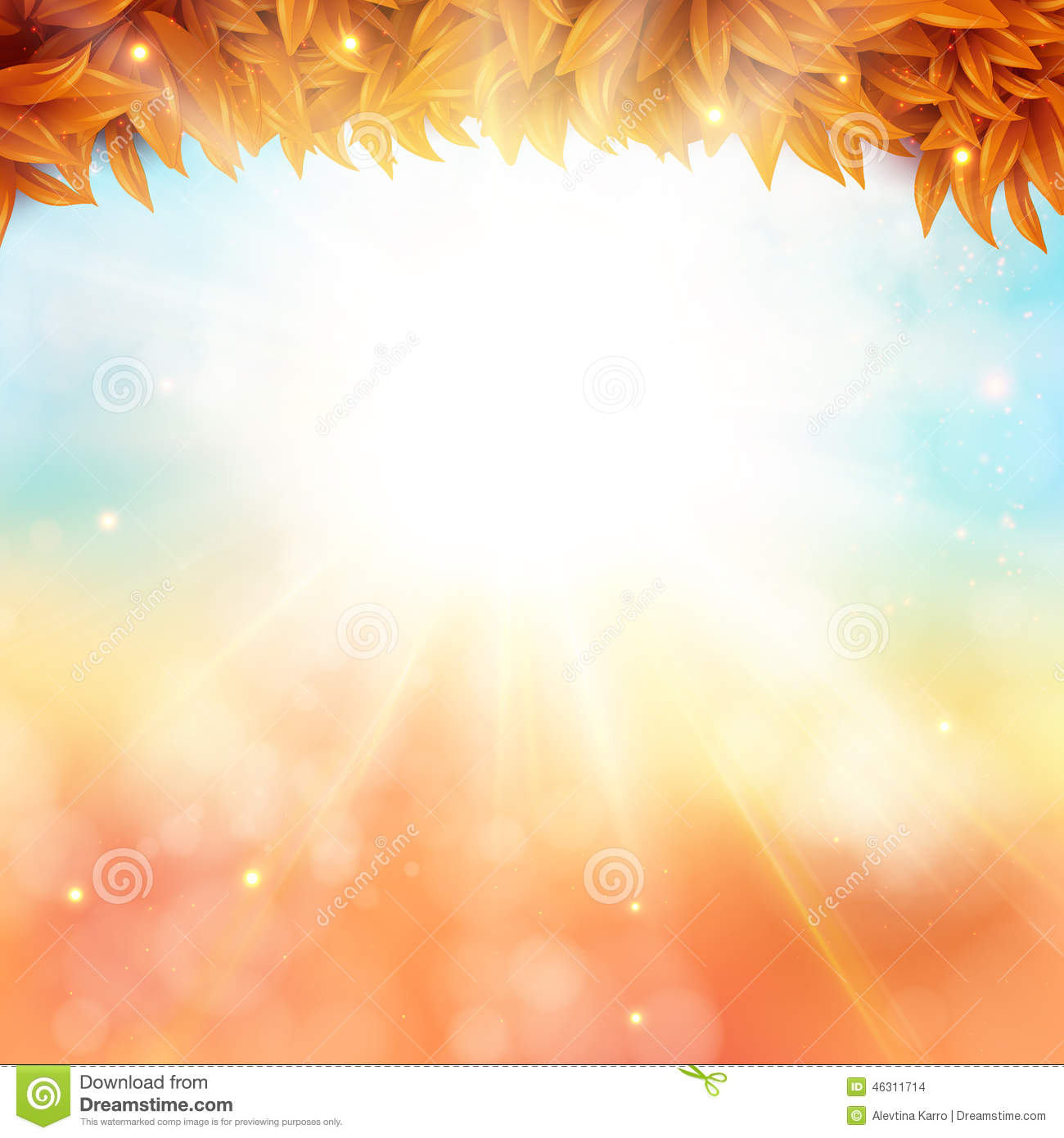 New background images environment free wallpaper - Abstract Autumn Poster With Shining Sun And Blurred