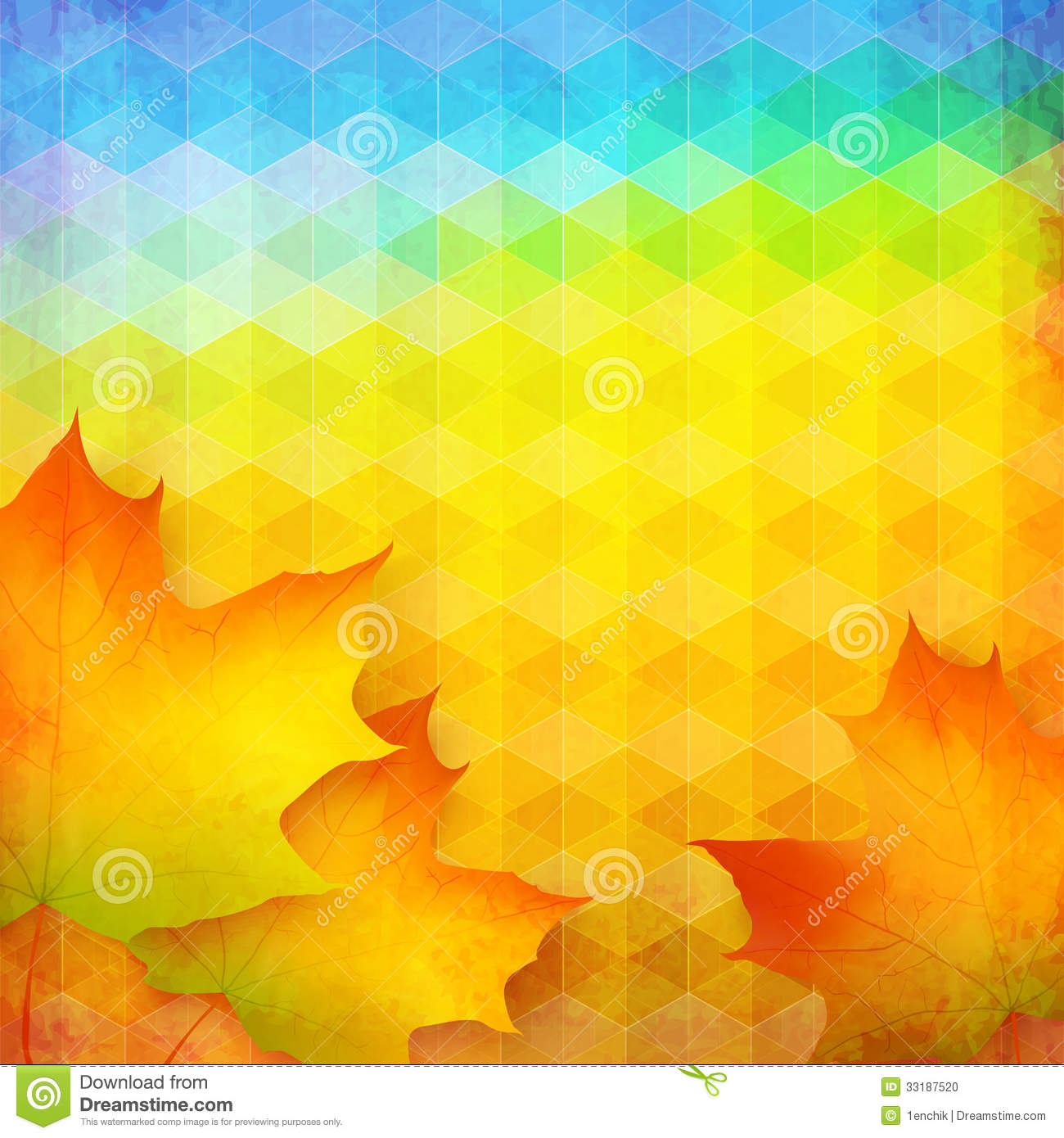 Abstract Autumn Vector Bright Background Stock Vector