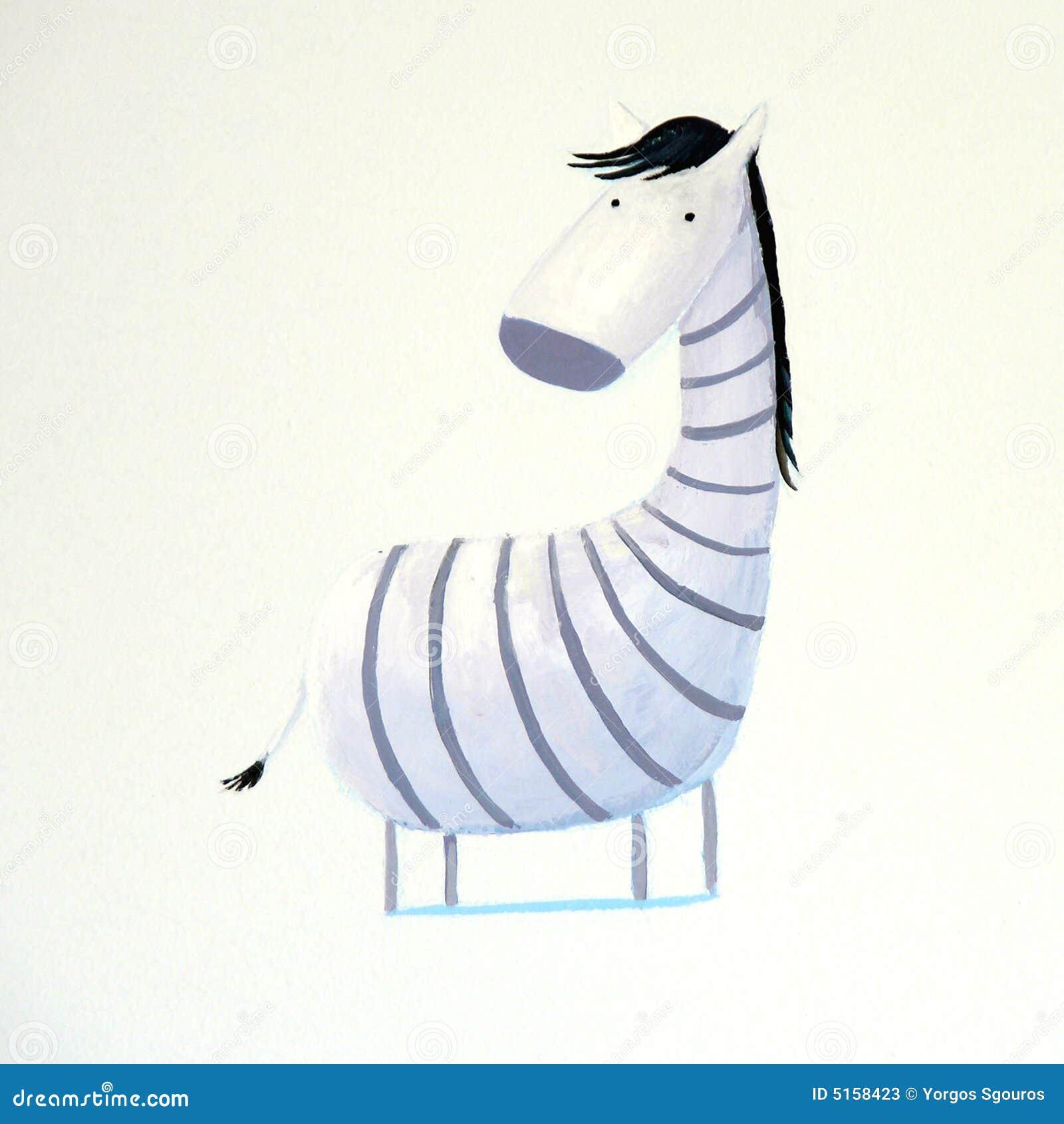 Abstract baby zebra