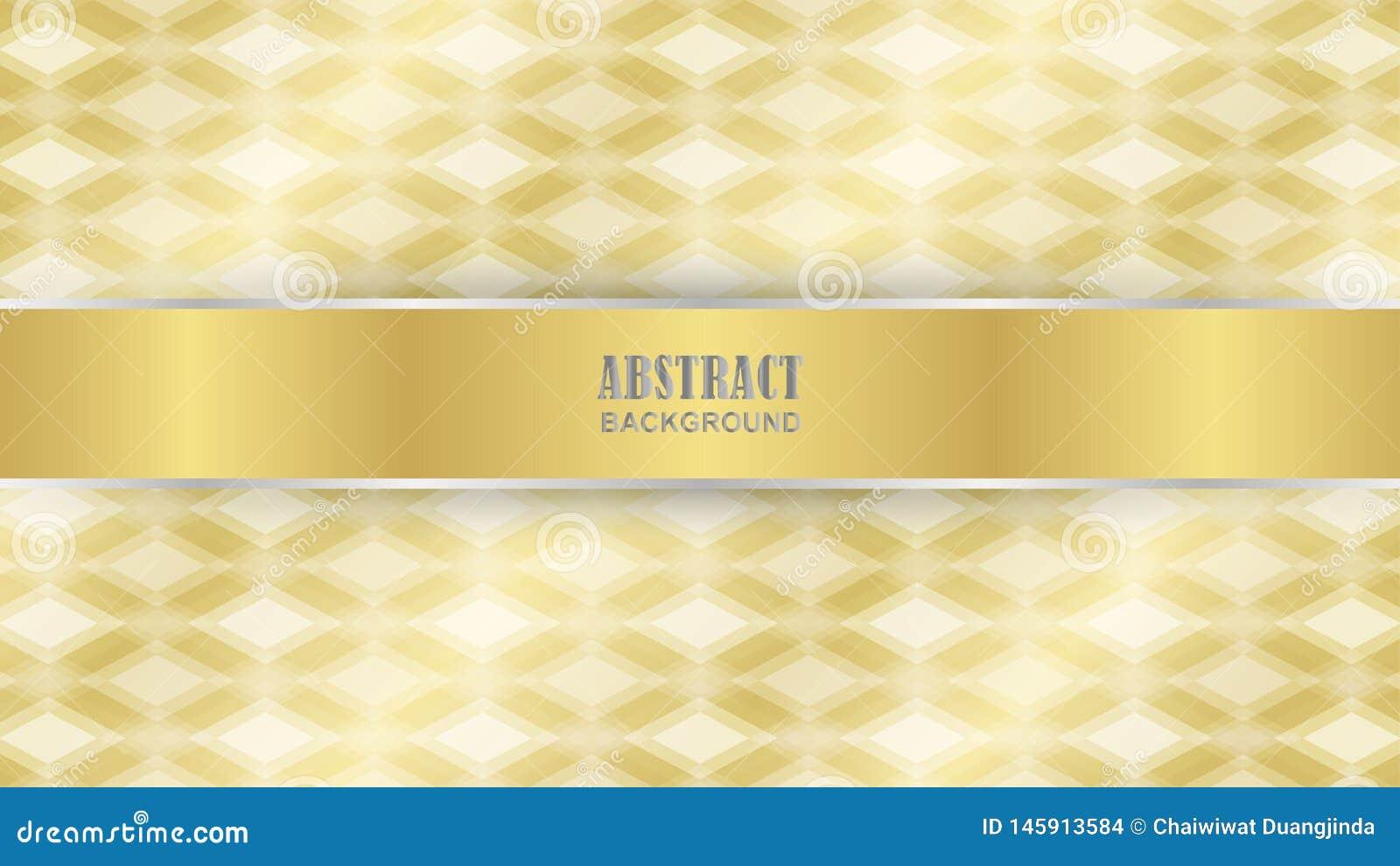 Gold diamond pattern as background