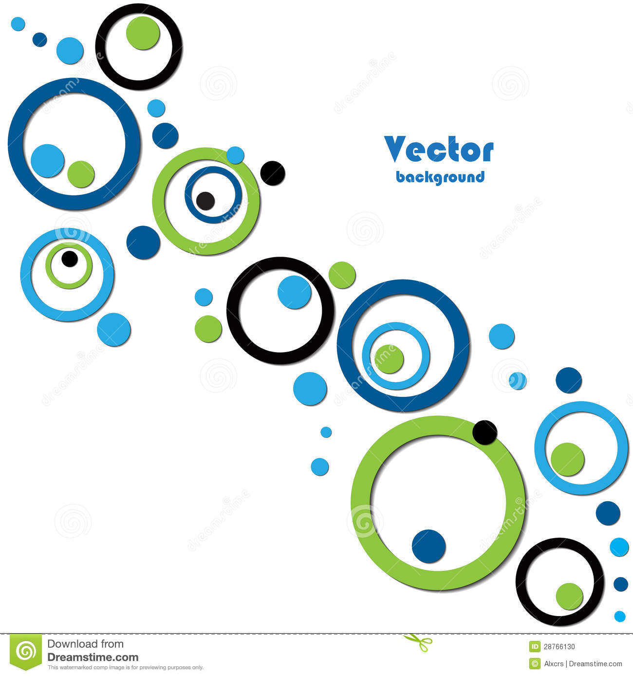 Abstract Background With 3D Circles Vector Stock Vector