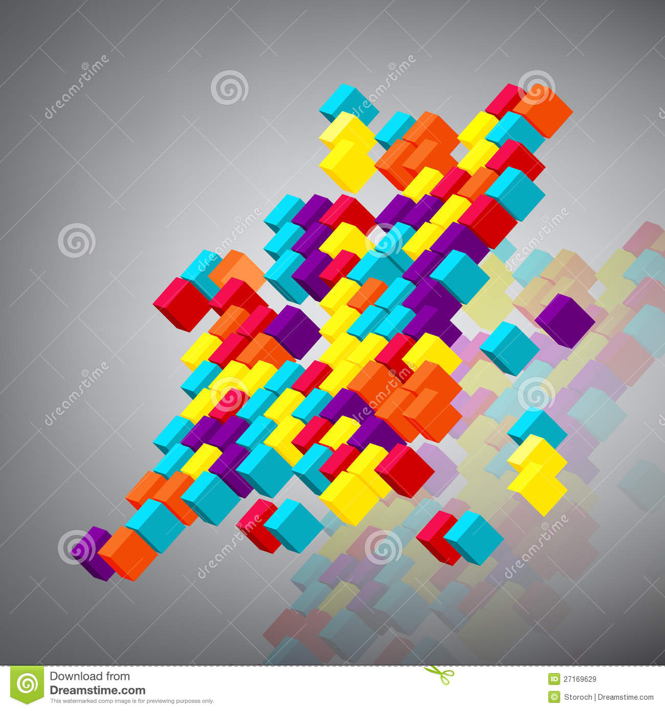 3d abstract cubes background - photo #20