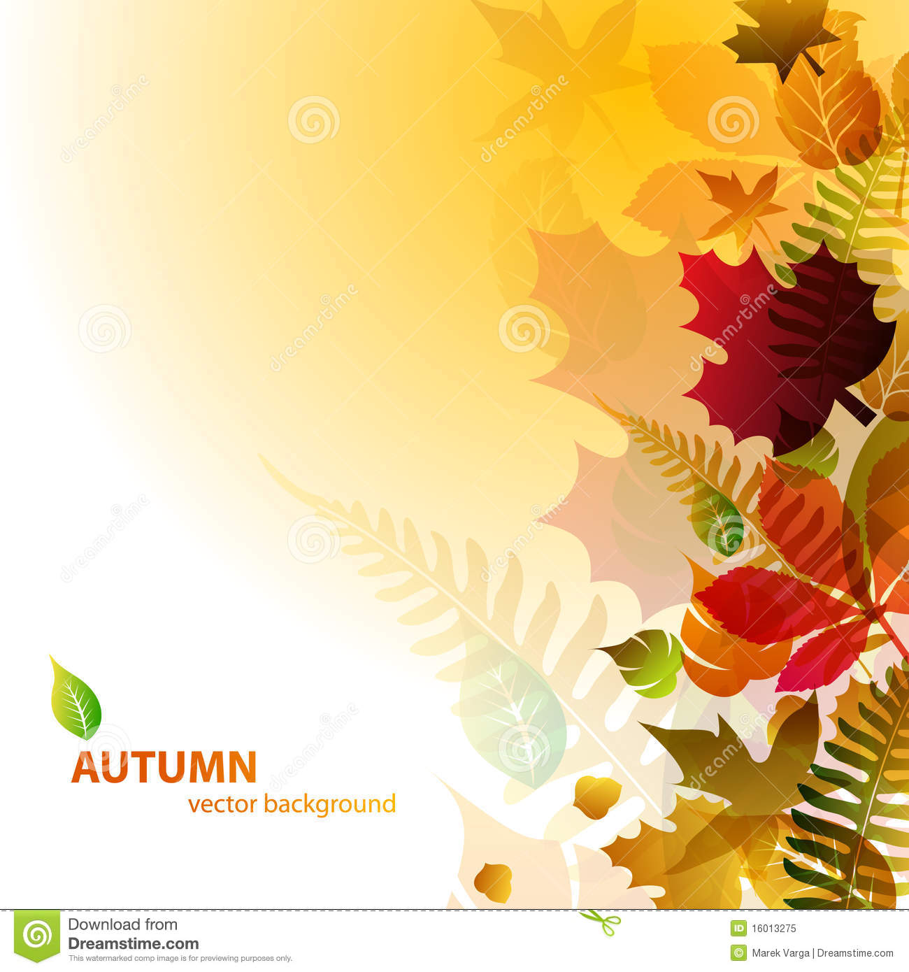Abstract Background With Autumn Leaves Stock Vector