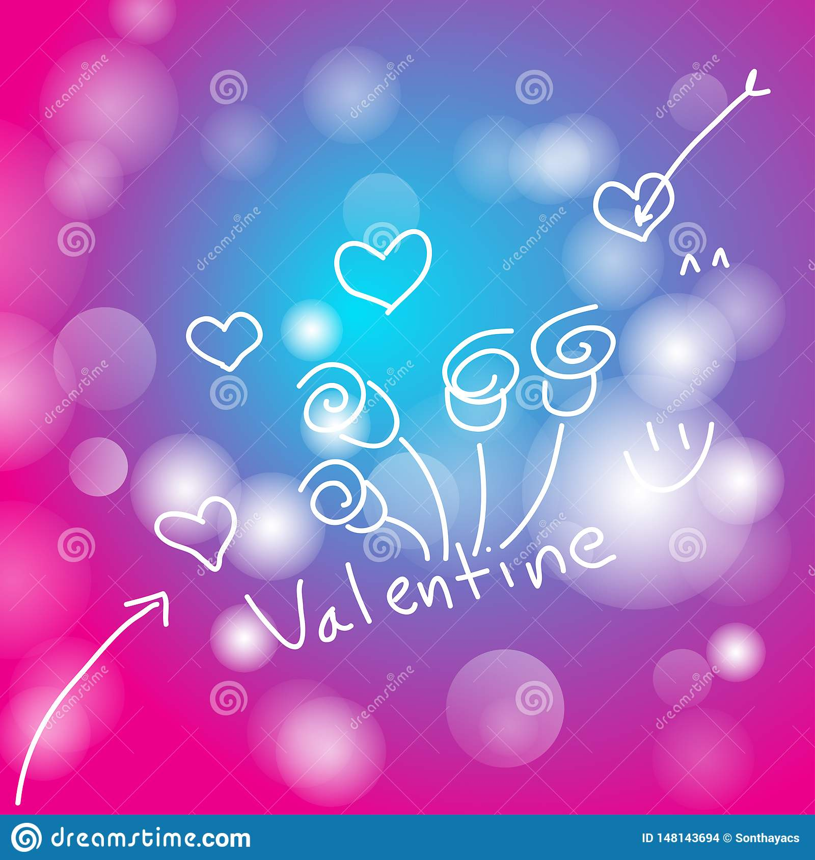 Abstract background beautiful valentine day,vector illustrations