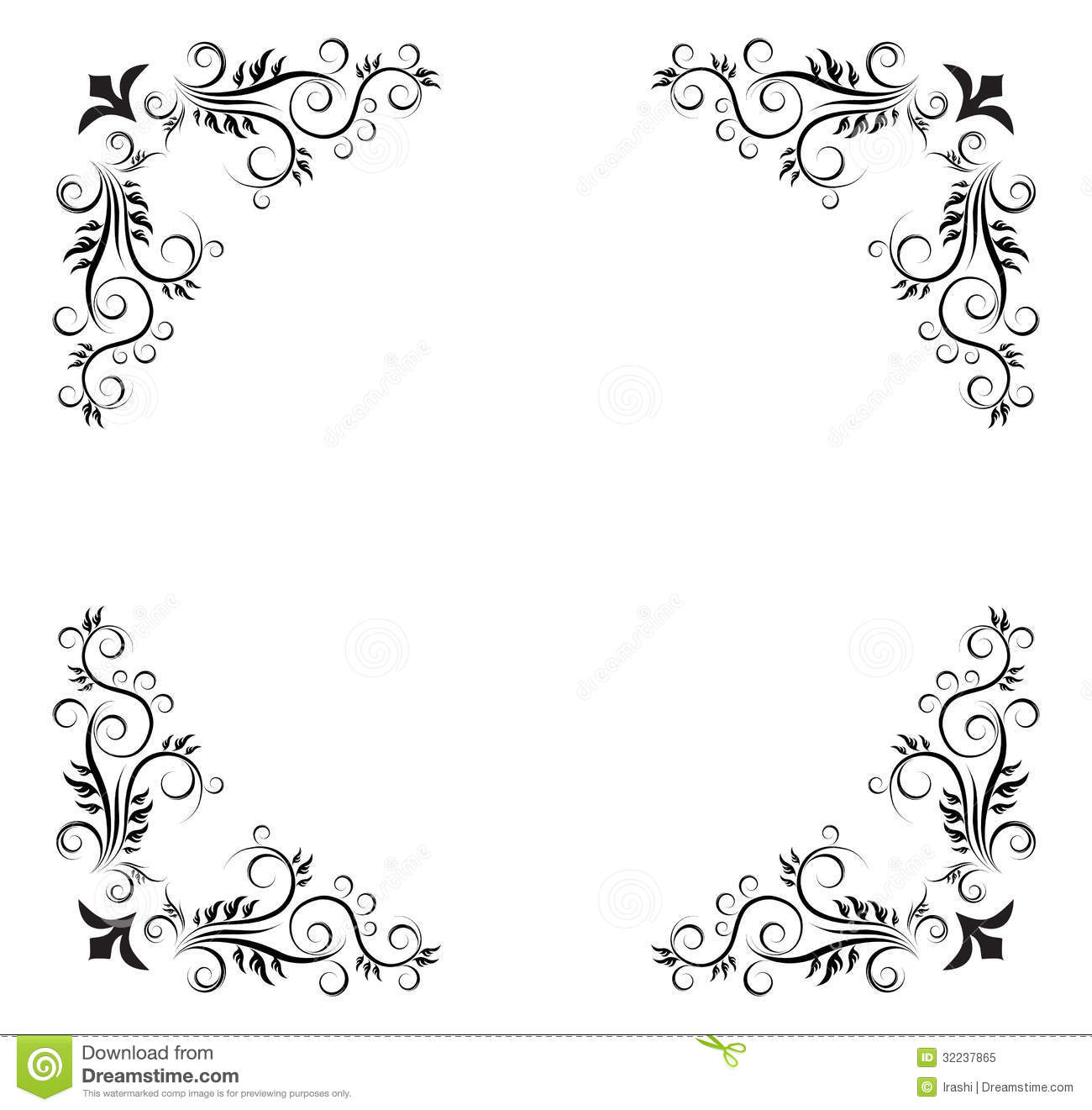 Set Of Black Flower Design Elements Royalty Free Stock: Abstract Background Stock Illustration. Illustration Of