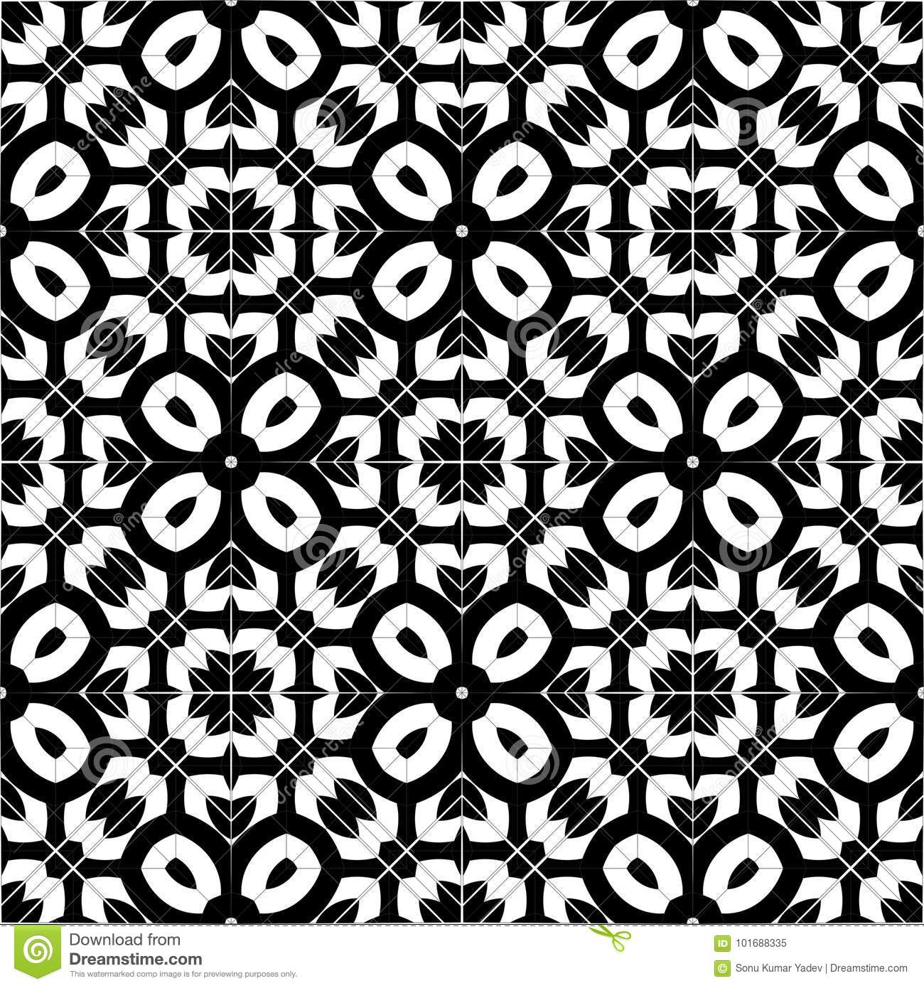 Abstract background black and white pattern design isolated vector scroll floral design element symetric pattern in black and white