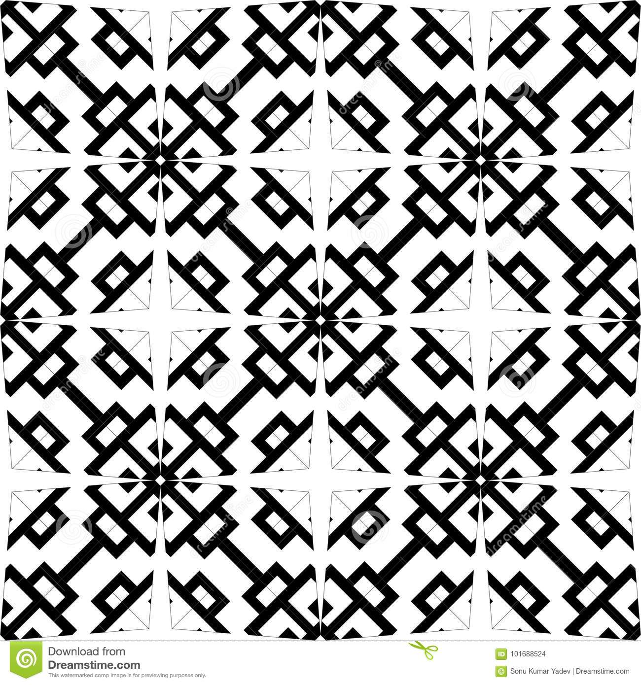 vector black white seamless pattern design stock vector