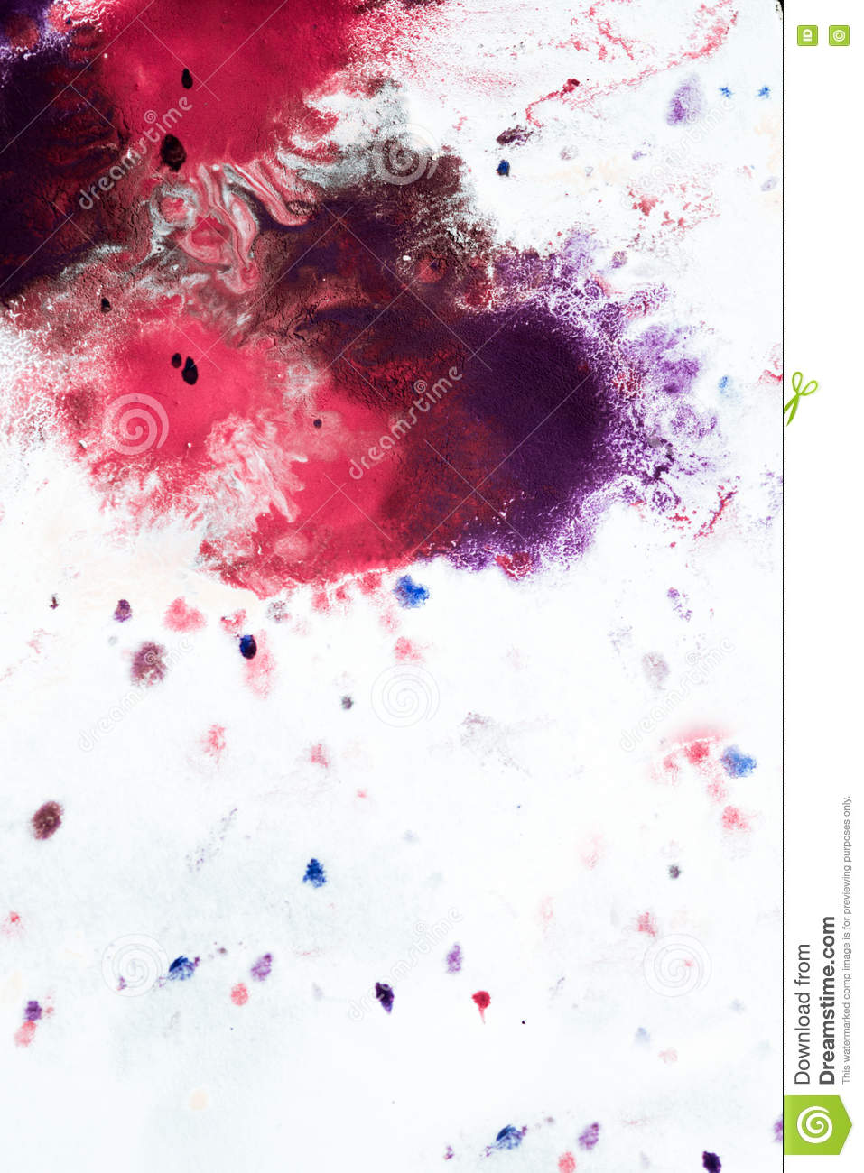 Abstract Background Of Blots Pink Red And Maroon On White