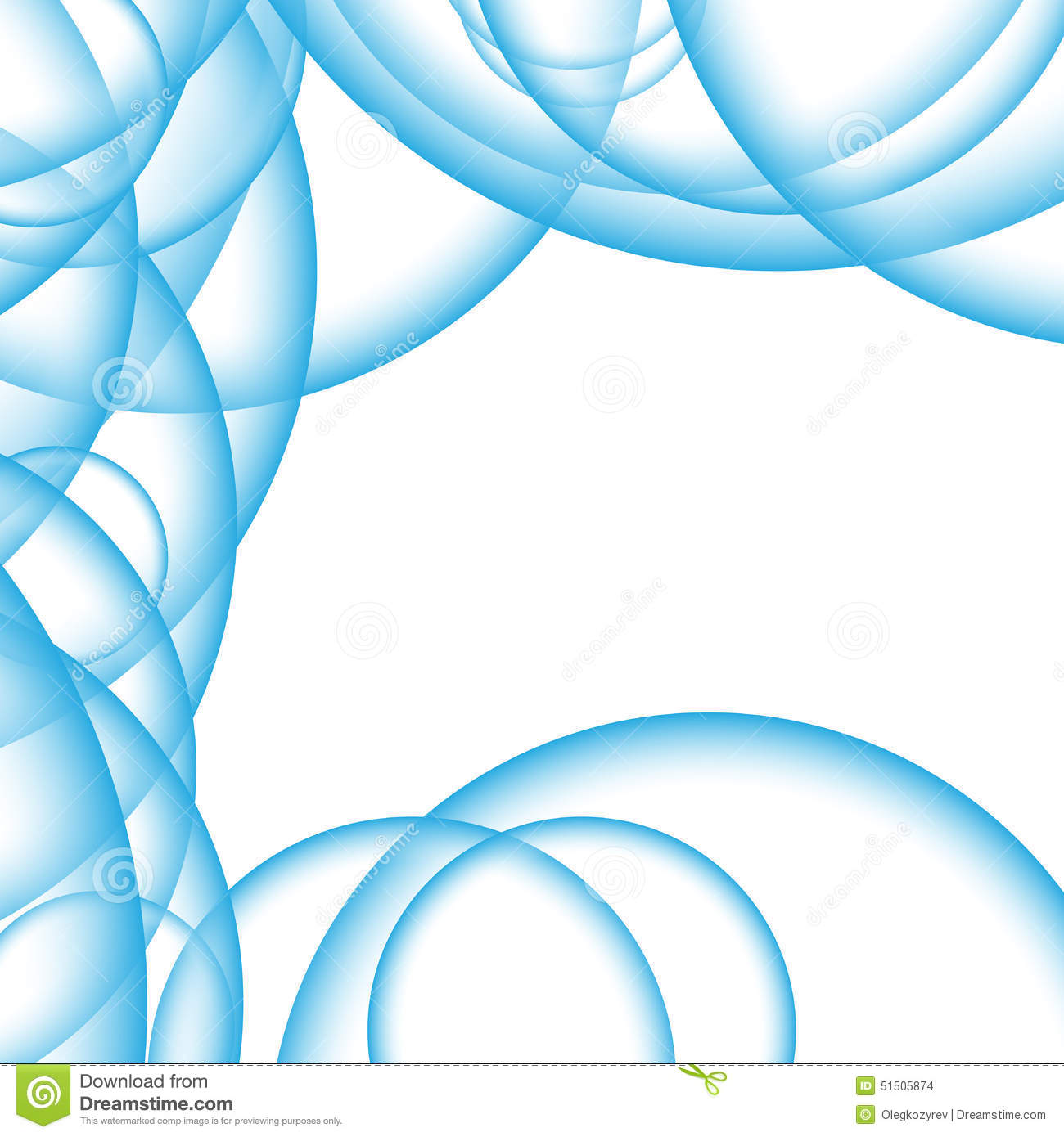 Abstract background blue air bubbles