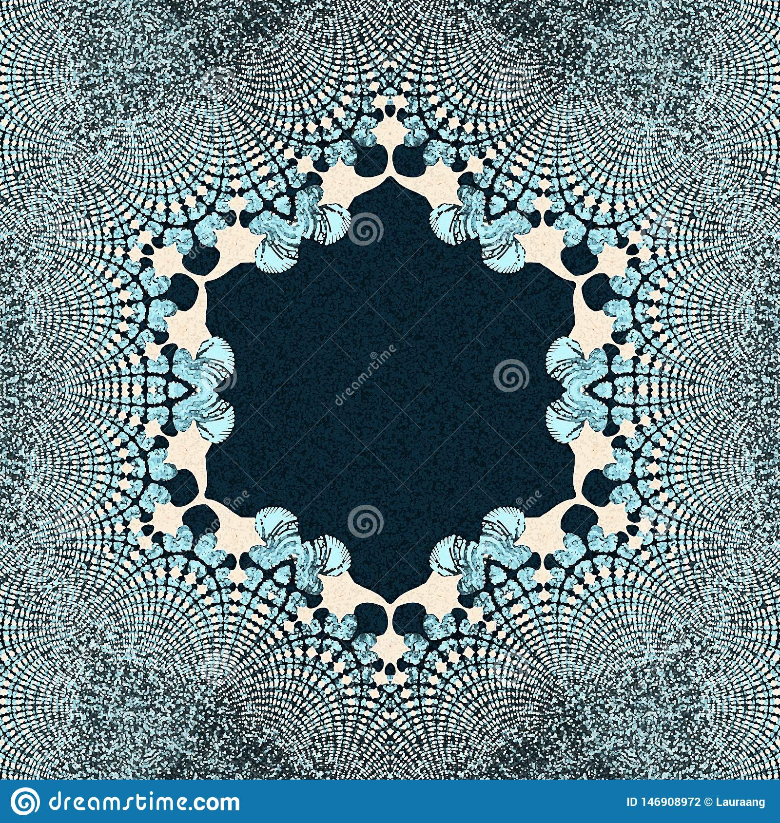 Abstract Background With Blue Color Stock Illustration
