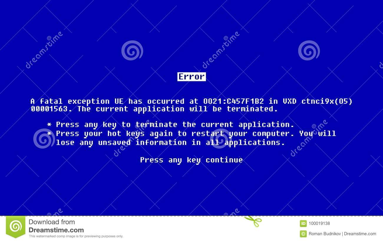 Abstract background with Blue Screen of Death