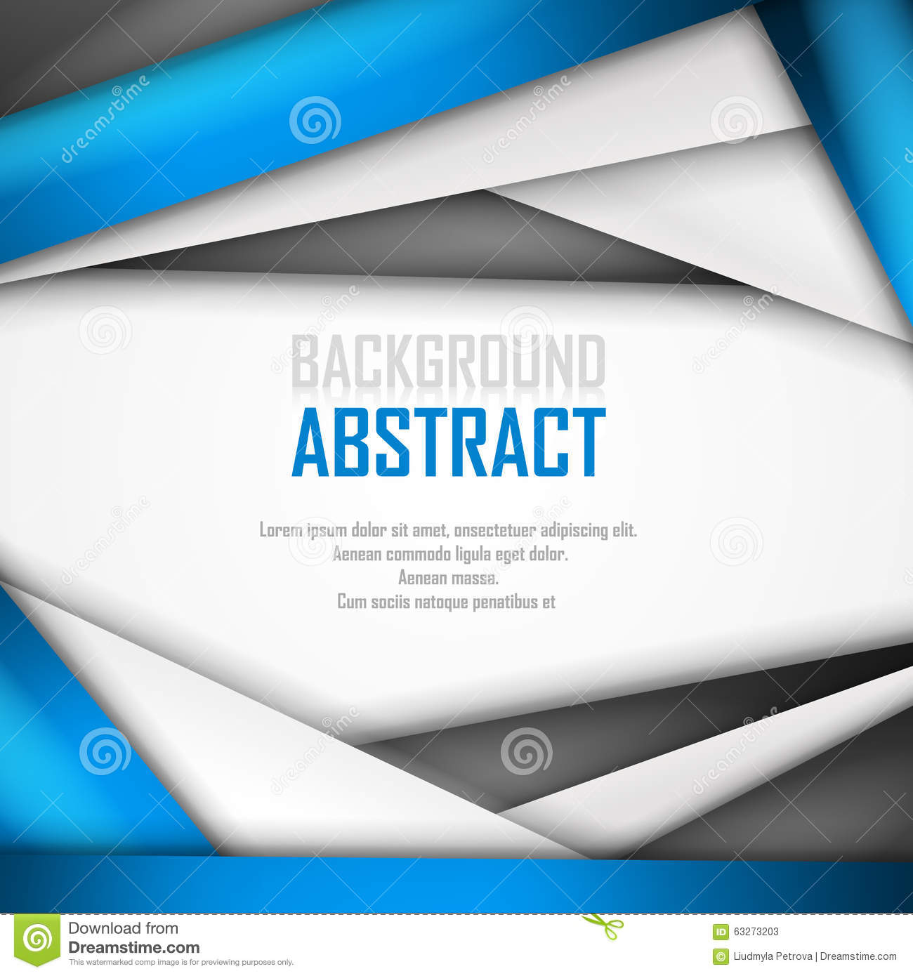 Abstract Background Of Blue White And Black Stock Vector