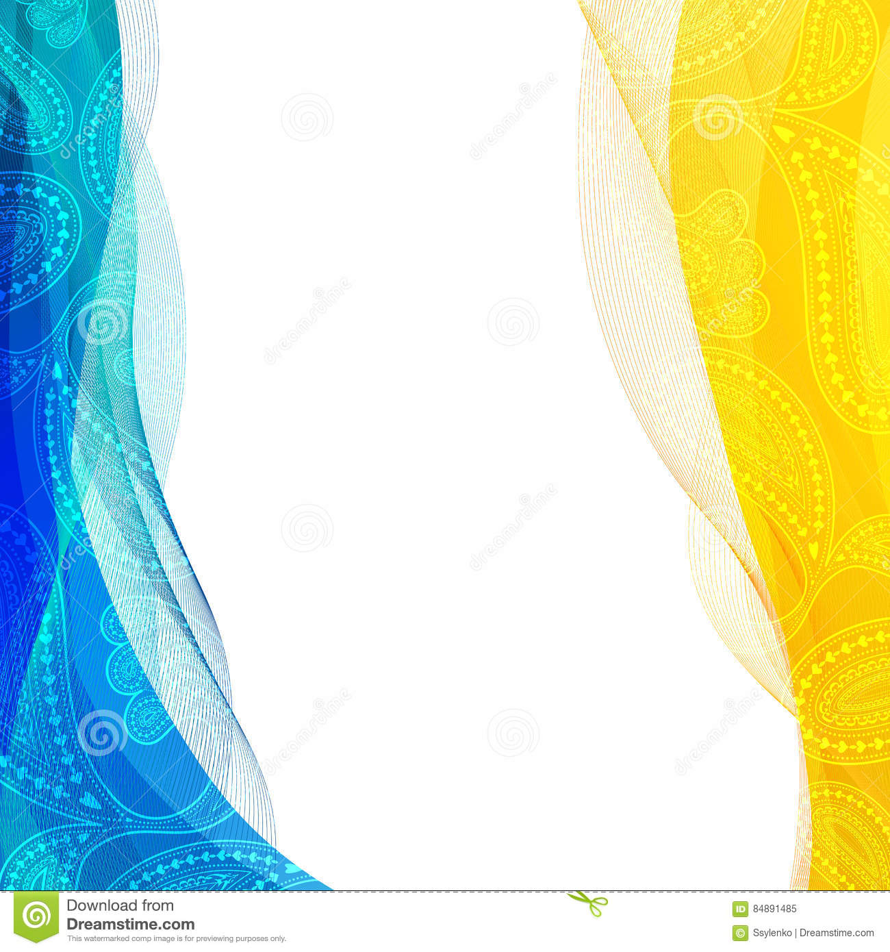 Background Blue And Yellow
