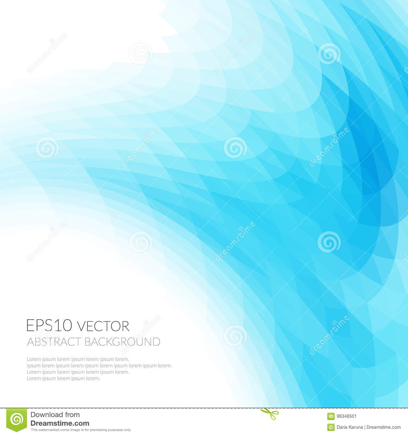 Abstract Background With Bright Blue Wavy Shapes The Smooth