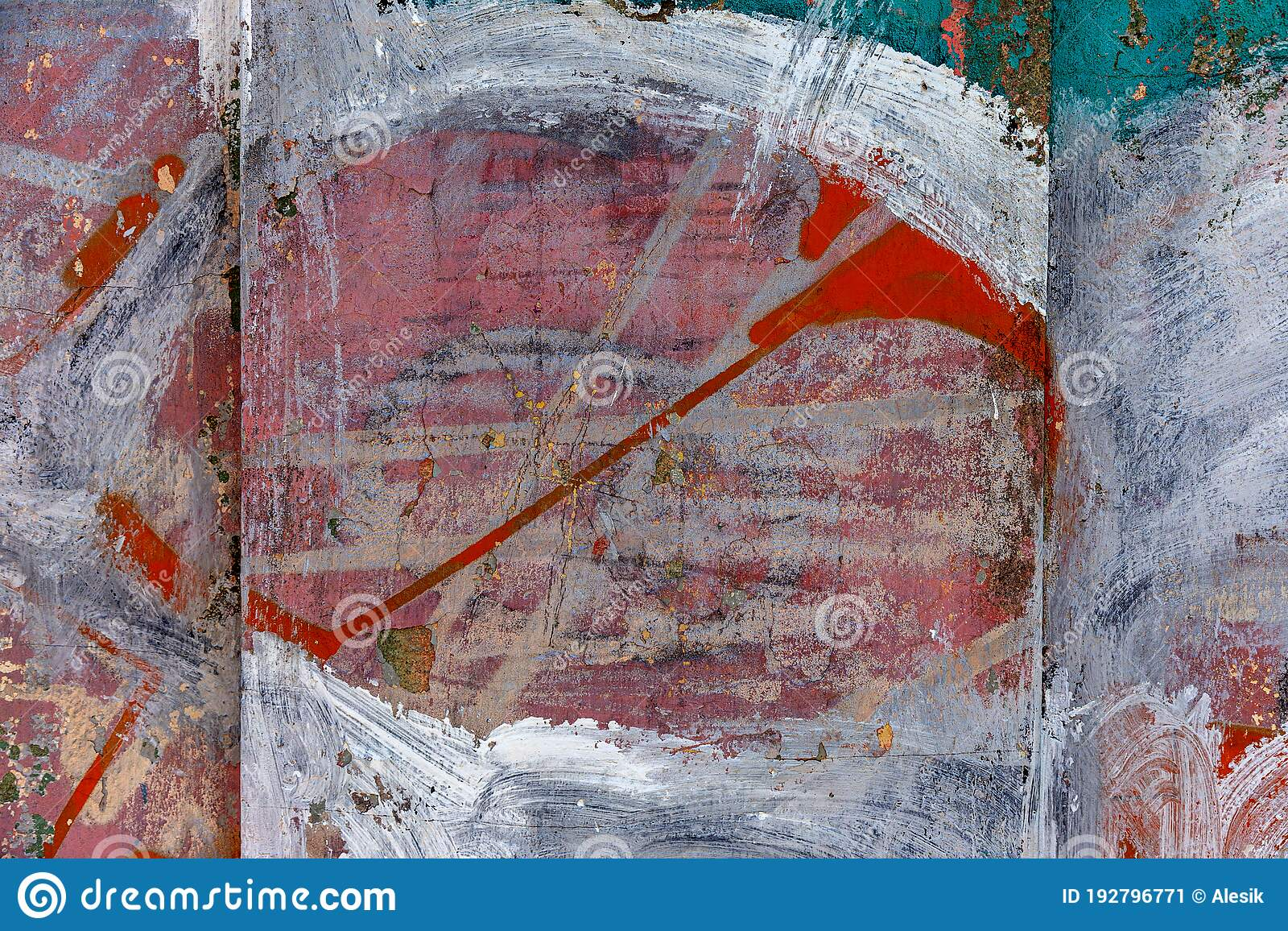 Abstract Background Of Brush Strokes On City Wall For Creative Backdrop Beautiful Street Art Graffiti Vandal Hooligans Have Stock Image Image Of Letter Colorful 192796771