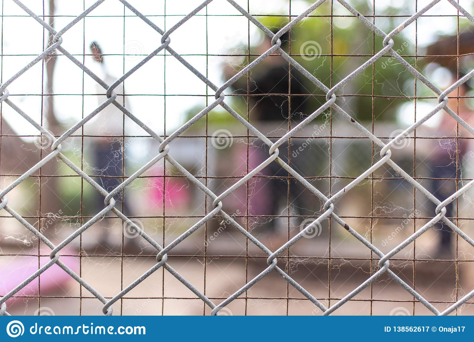 Abstract background, chain-link fencing