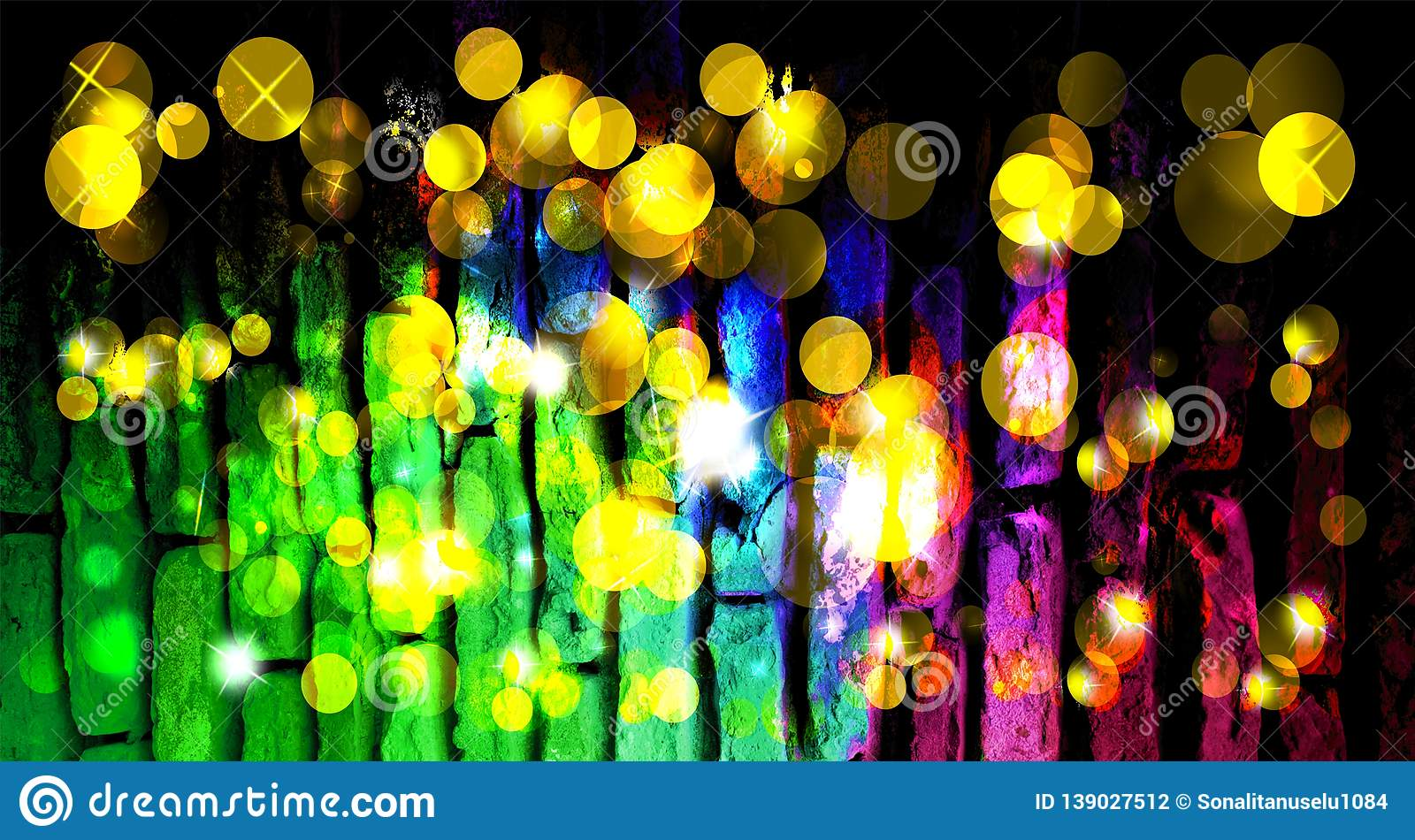 Abstract background Christmas magic sparkle, light dots, vector bokeh effect. background wallpaper.