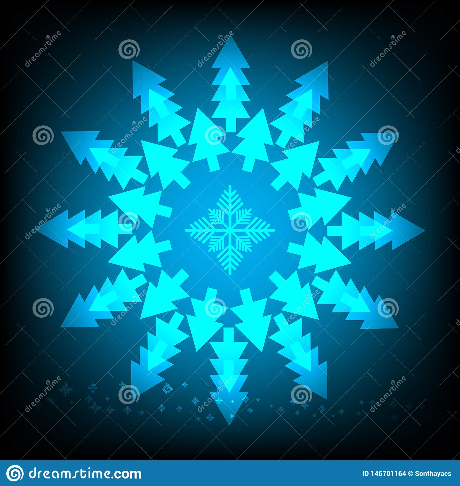abstract background of Christmas tree