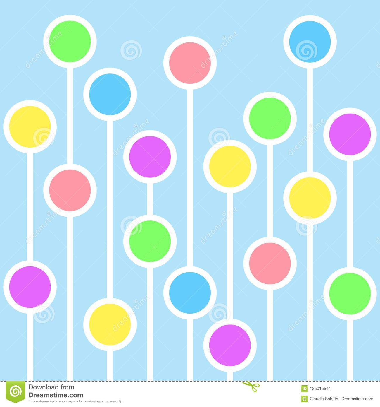 Abstract background with circles and white lines.