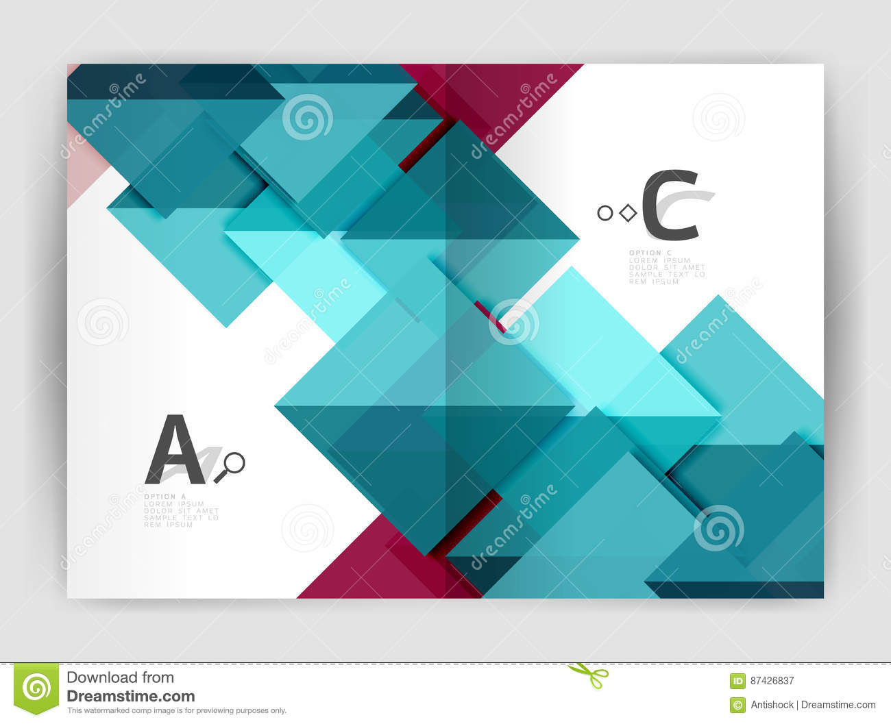 Abstract Background With Color Triangles, Annual Report Print ...