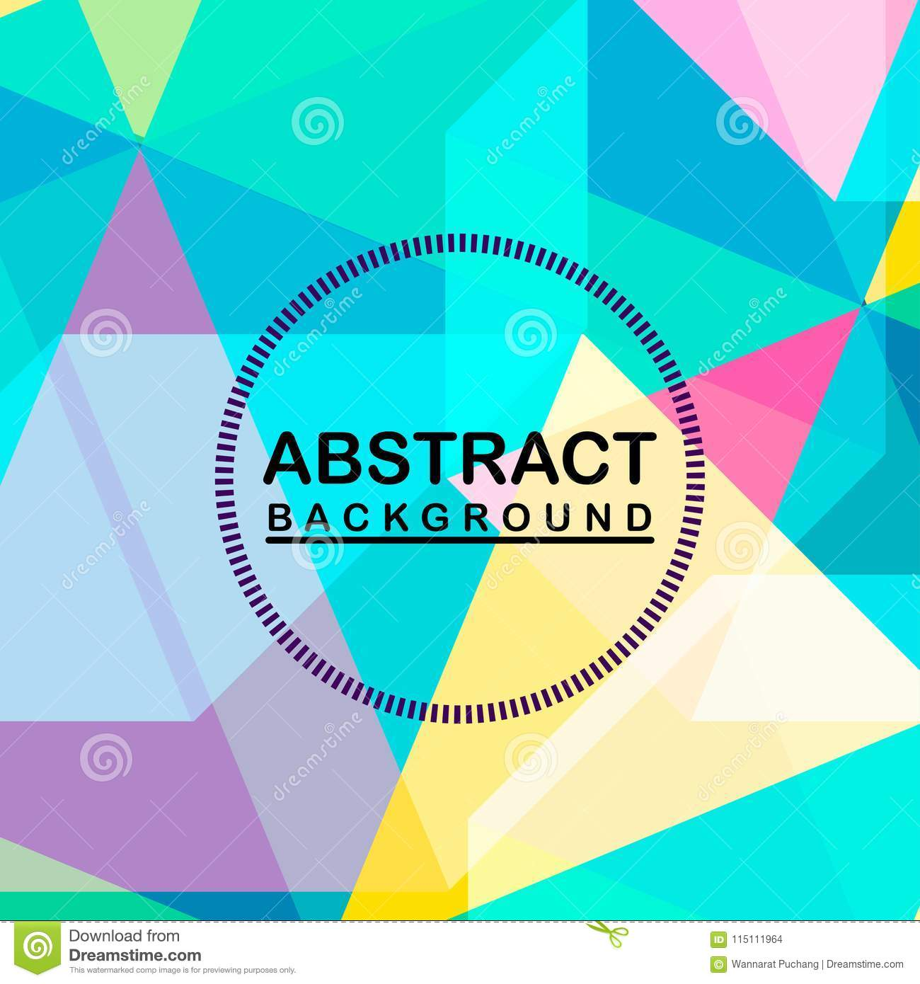 Abstract Background Colorful Funny Themes Stock Illustration