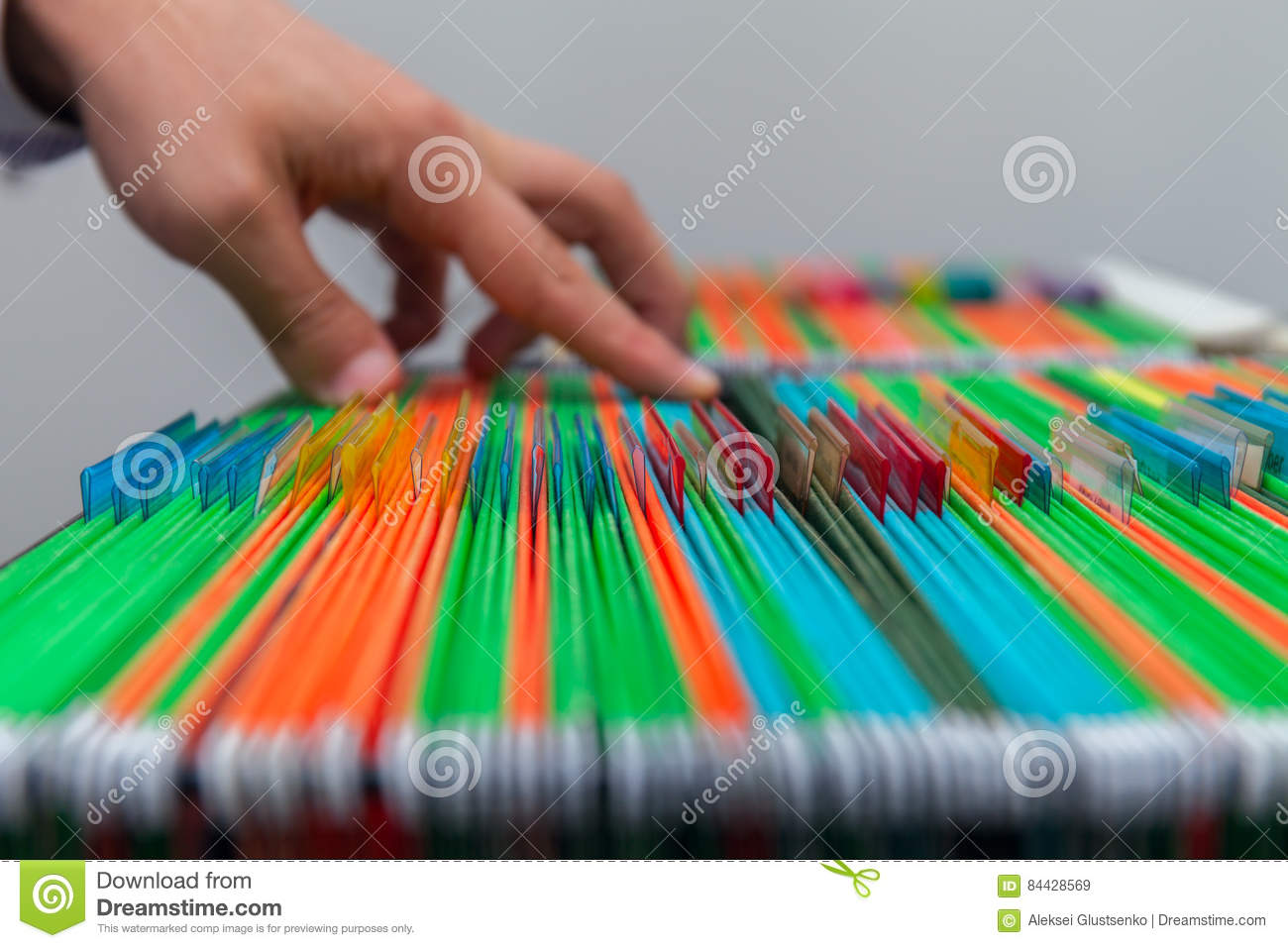 Old File Drawer Frames With Blank Labels Stock Photo