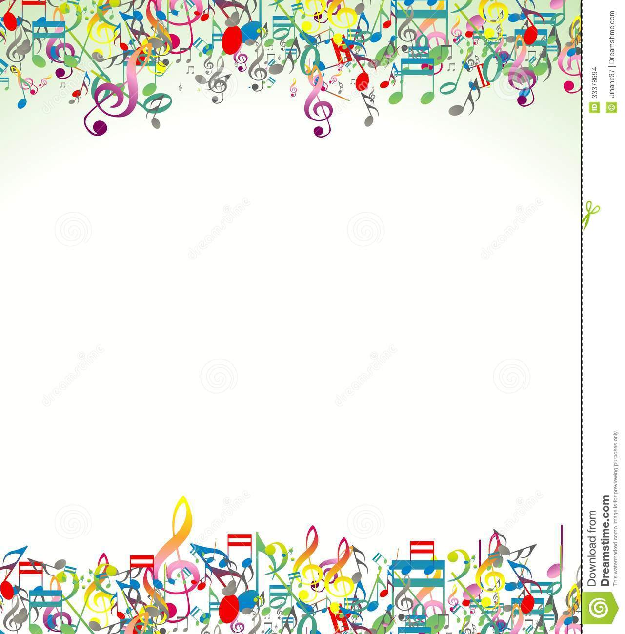 Abstract Background With Colorful Music Notes Stock Images ...