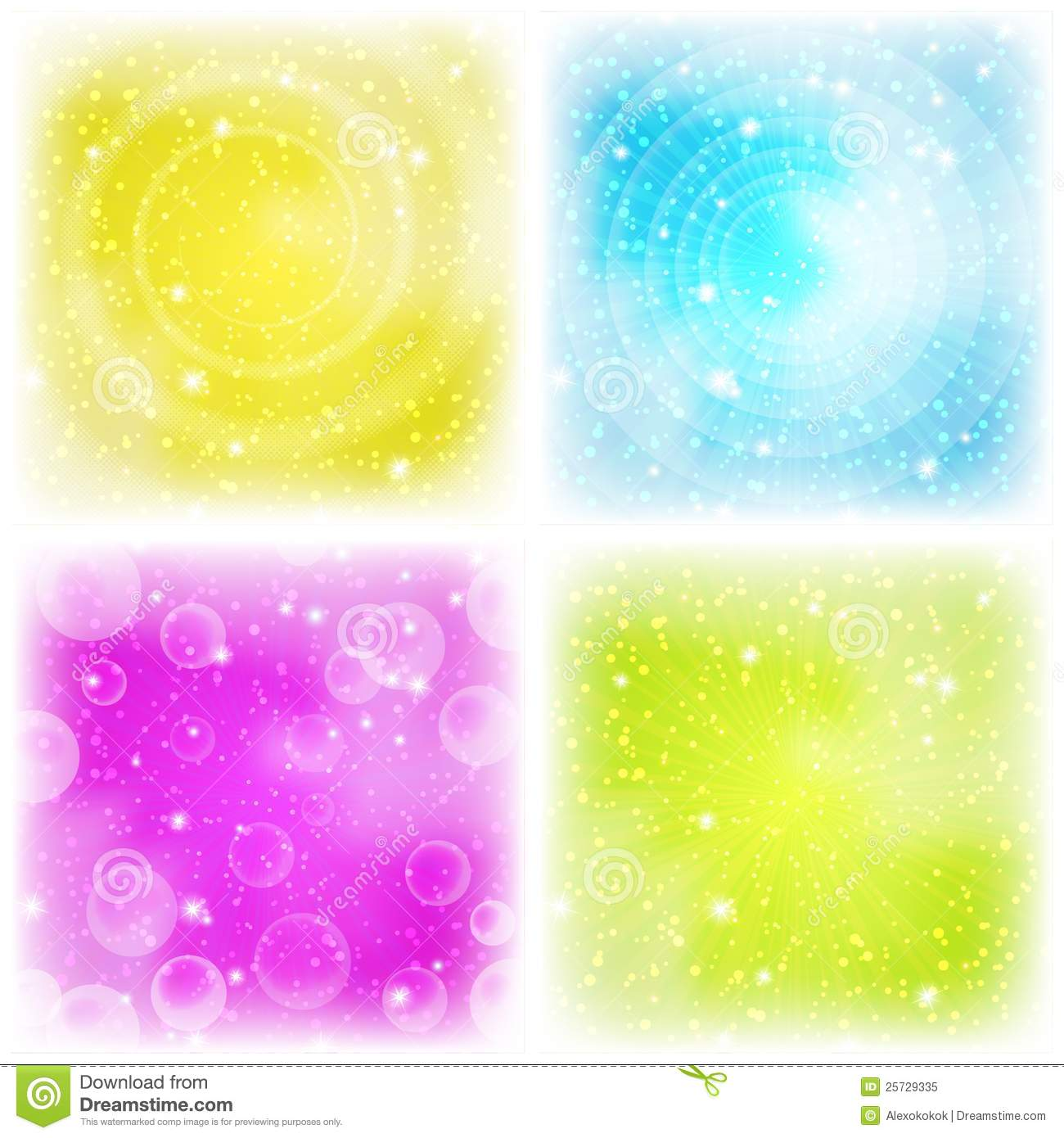 Abstract background, colorful, set
